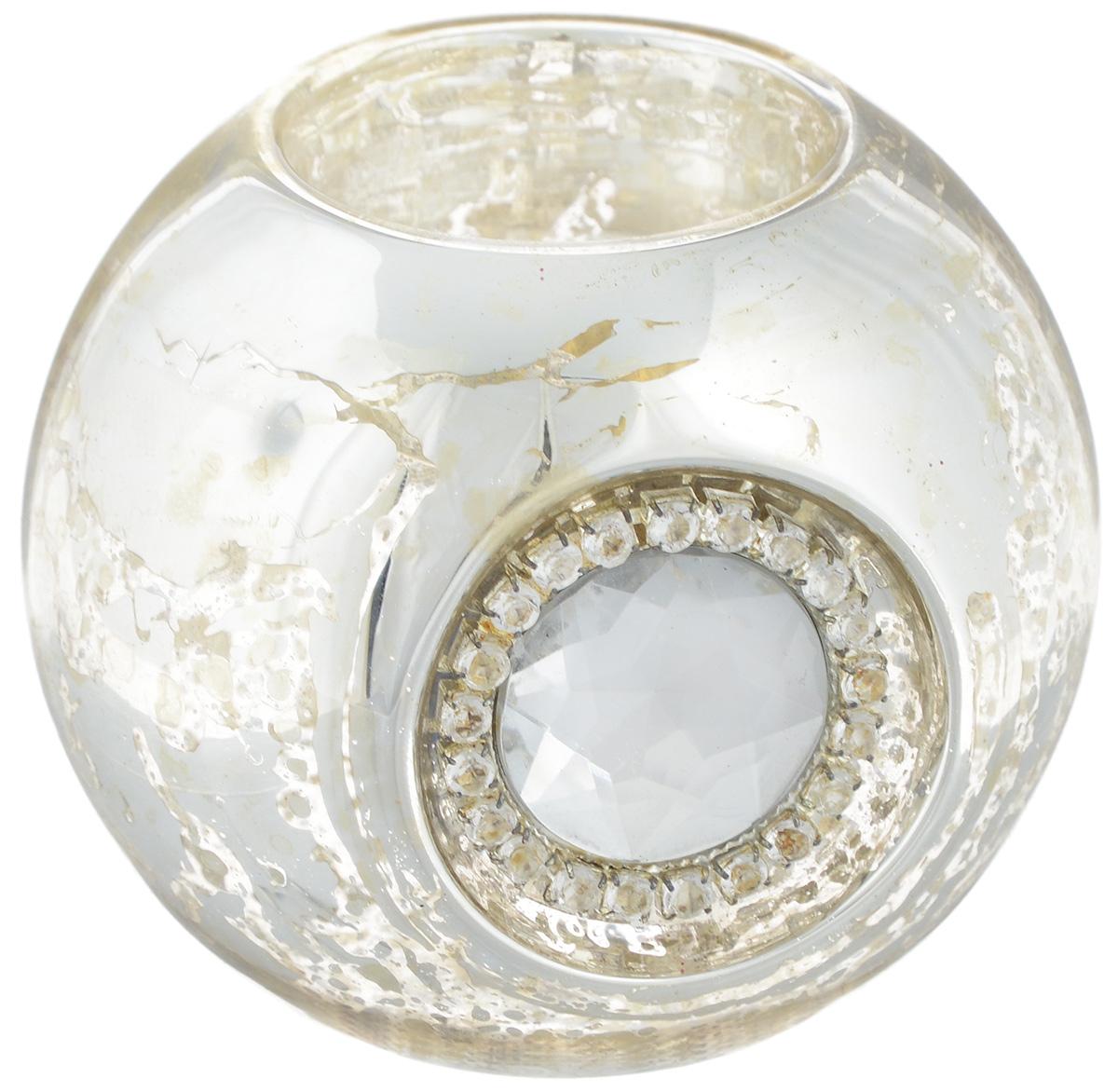 Подсвечник Lovemark Шарик, цвет: серебристый, диаметр 8 смБрелок для ключейПодсвечник Lovemark Шарик изготовлен из стекла и украшен крупным граненым камнем и стразами. Предназначен для чайных свечей. Такой подсвечник отлично украсит интерьер дома в преддверии Нового Года. Откройте для себя удивительный мир сказок и грез. Почувствуйте волшебные минуты ожидания праздника, создайте новогоднее настроение вашим дорогим и близким.Диаметр отверстия для чайной свечи: 4 см.