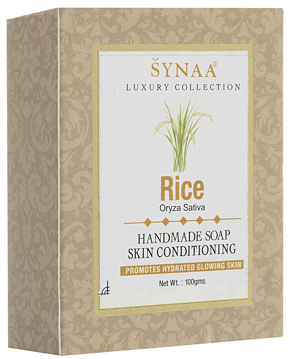 Synaa мыло ручной работы Рис, 100 г5010777139655Мыло ручной работы с лечебно-профилактическими свойствами, обогащенное экстрактом Риса, витамином Е и кокосовым маслом. Нежно очищает кожу, увлажняет, препятствует потере влаги, защищает от внешних факторов. Делает кожу гладкой и матовой