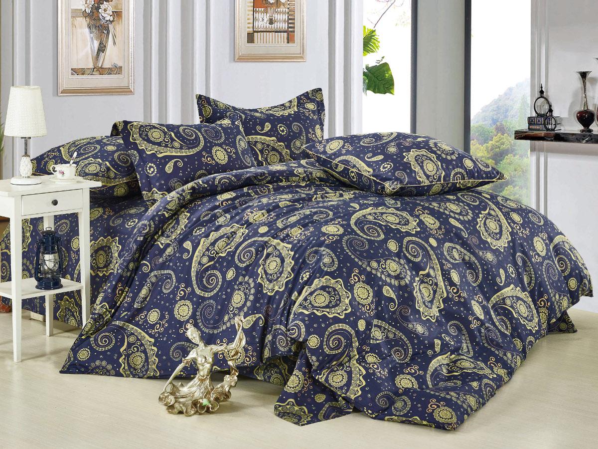 Комплект белья Cleo Пейсли Марокко, 1,5-спальный, наволочки 70x70, цвет: синий. 15/008-BL391602Комплект постельного белья Cleo выполнен из высококачественной бязи люкс (100% хлопок), которая идеально подходит для любого времени года Постельное белье из бязи имеет ряд уникальных свойств: экологичность, гипоаллергенность, сохраняет внешний вид на долгие годы, не садится, легко гладится, не накапливает статического электричества, обладает исключительной терморегуляцией, загрязнения прекрасно отстирываются любыми средствами. Благодаря особому способу переплетения нитей в полотне, обеспечивается особая плотность ткани, что делает ее устойчивой к износу. Высокая плотность – это залог прочности и долговечности, однако она не влияет на удовольствие от прикосновения. Благодаря пигментному способу нанесения печати даже после многократных стирок в деликатном режиме постельное белье сохраняет свой первоначальный вид. Такое постельное белье окутает вас своей нежностью и подарит спокойный комфортный сон, а яркие оригинальные дизайны стильно дополнят интерьер спальни.
