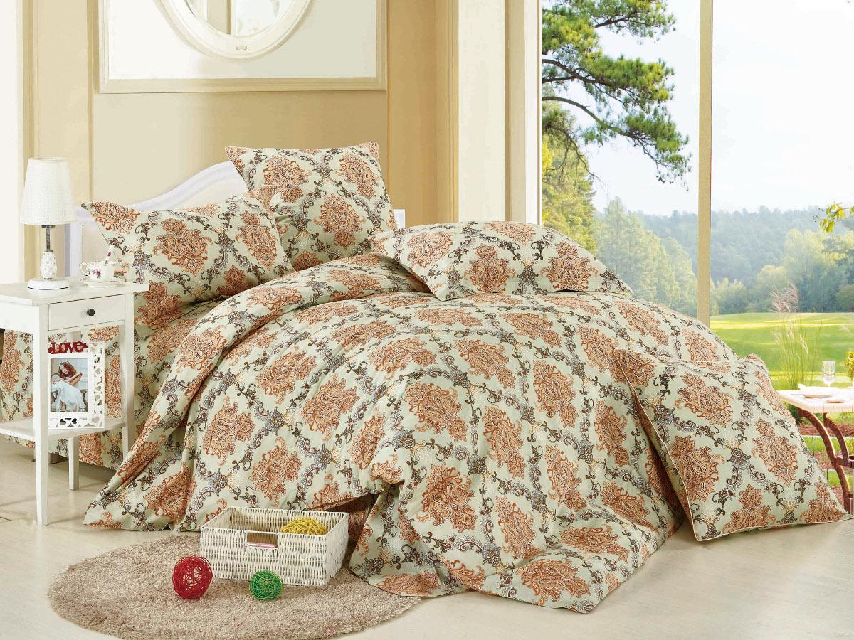 Комплект белья Cleo Сладкий сон, 1,5-спальный, наволочки 70x70Т-2106-02Комплект постельного белья Cleo выполнен из высококачественной бязи люкс (100% хлопок), которая идеально подходит для любого времени года Постельное белье из бязи имеет ряд уникальных свойств: экологичность, гипоаллергенность, сохраняет внешний вид на долгие годы, не садится, легко гладится, не накапливает статического электричества, обладает исключительной терморегуляцией, загрязнения прекрасно отстирываются любыми средствами. Благодаря особому способу переплетения нитей в полотне, обеспечивается особая плотность ткани, что делает ее устойчивой к износу. Высокая плотность - это залог прочности и долговечности, однако она не влияет на удовольствие от прикосновения. Благодаря пигментному способу нанесения печати даже после многократных стирок в деликатном режиме постельное белье сохраняет свой первоначальный вид. Такое постельное белье окутает вас своей нежностью и подарит спокойный комфортный сон, а яркие оригинальные дизайны стильно дополнят интерьер спальни.