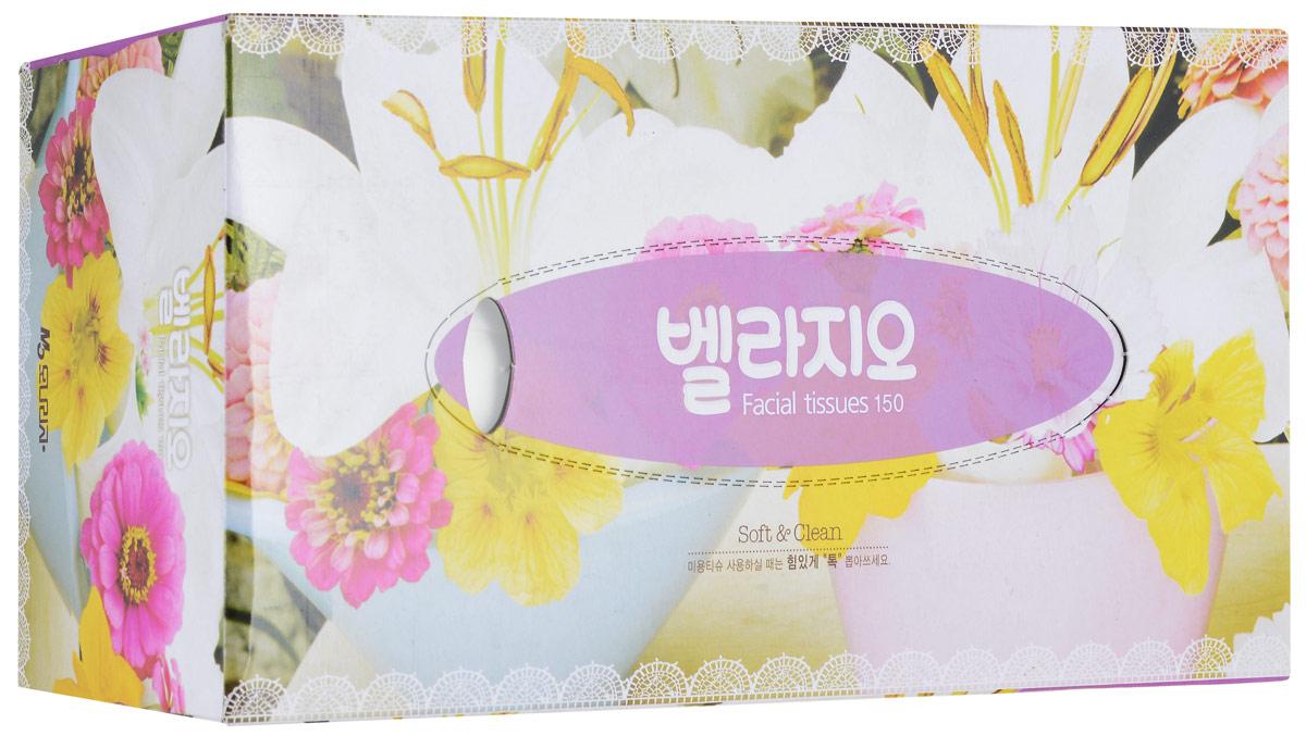 Салфетки для лица Monalisa Bellagio, 150 шт223655_фиолетовый