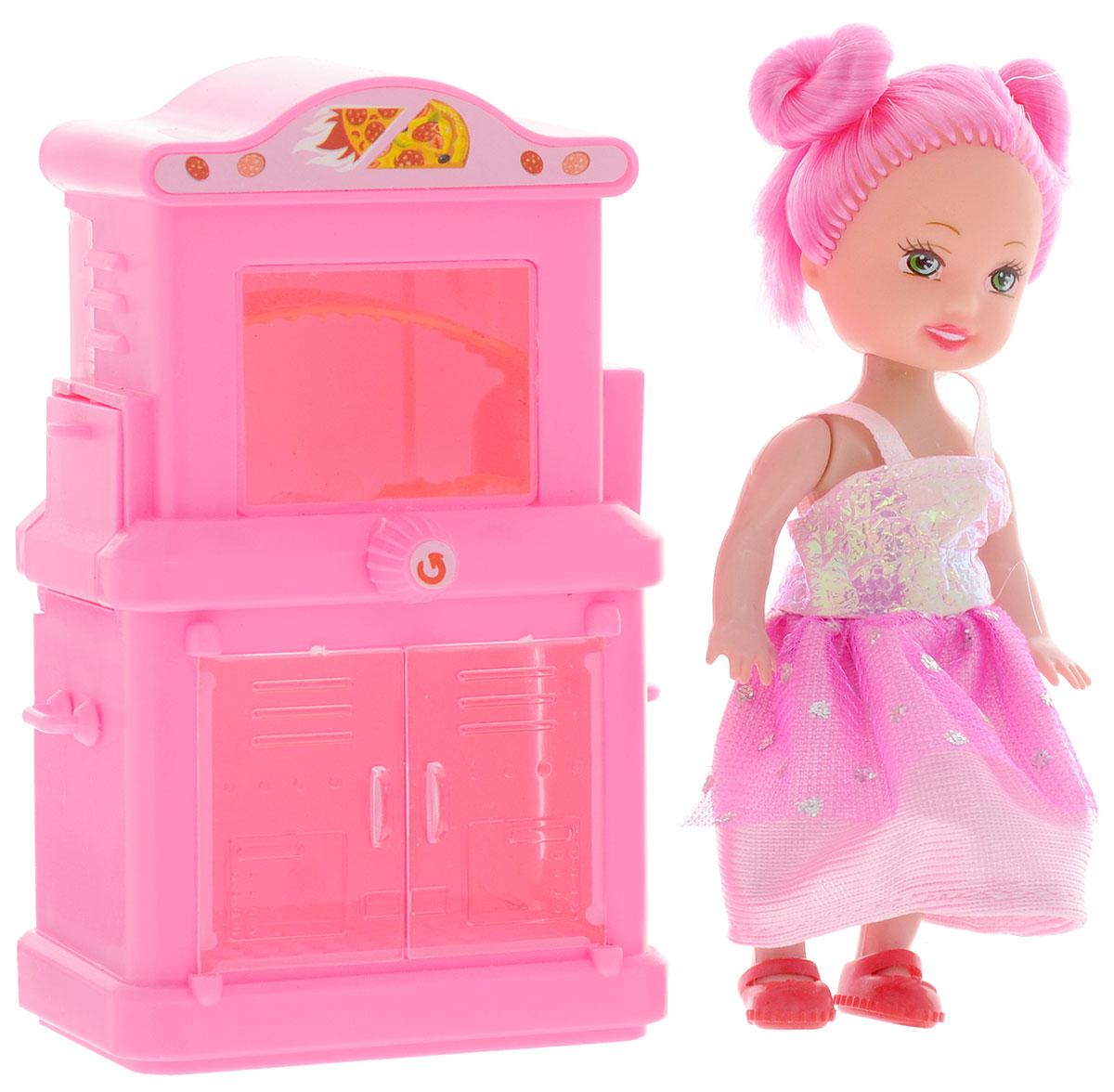 Shantou Игровой набор с мини-куклой Bettina со шкафом и плитой