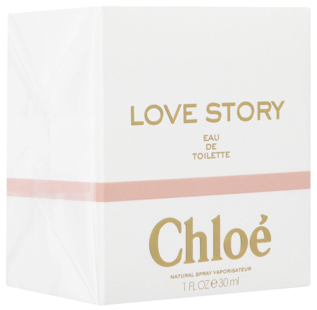 Chloe Love Story Туалетная вода женская 30 мл1301210Особенное утро, наполненное сверкающим светом. Нежный цветочный аромат бутонов апельсина сливается со свежестью утренней росы. Она вспоминает их смех. Искры настурции, легкая перчинка - эти ноты заставляют ее трепетать от неги. Этот цветок - символ любви, который дается лишь тому, кто готов открыть своё сердце. Воспоминания о пламенном свидании в пустом городе, они - рука об руку. Настоящая близость. Цветущая слива раскрывает природную чувственность. Невероятно изысканное звучание, обрамленное цветочными нотами. Туалетная вода Chloe Love Story - это новая история любви. Свежий, цветочный и очень чувственный аромат. Чистый соблазн, нанесенный на кожу.Верхняя нота: Бергамот; ноты сердца: Апельсин, Слива, Настурция, Ландыш.Средняя нота: Роза.Шлейф: белый мускус.Цветущая слива раскрывает природную чувственность.Дневной и вечерний аромат.
