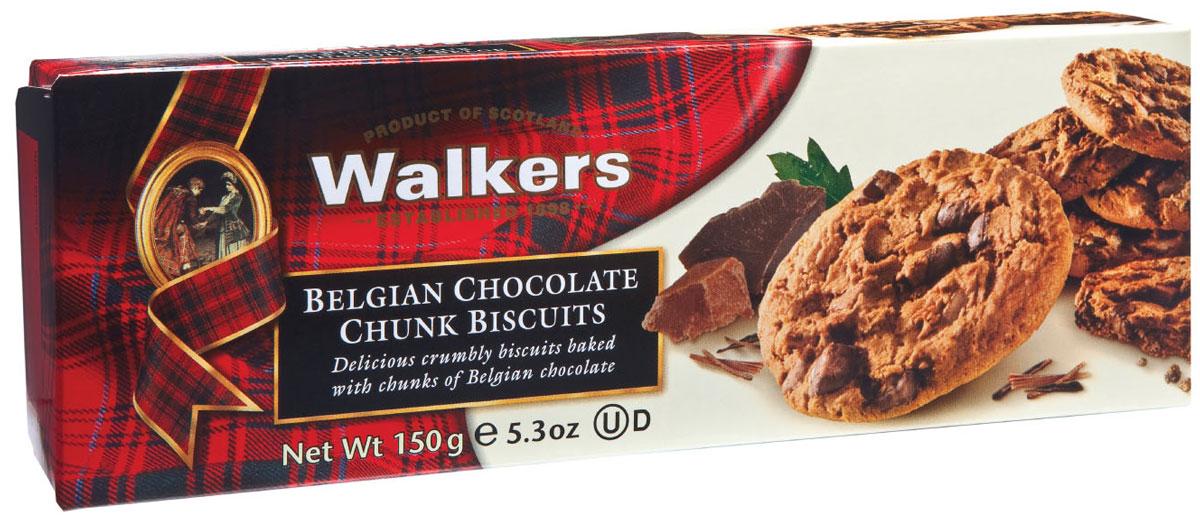 Walkers печенье с шоколадной крошкой, 150 г0120710Печенье Walkers - очень нежное песочное печенье с кусочками темного шоколада. Произведено согласно традиционному рецепту с использованием самых лучших натуральных ингредиентов.Уважаемые клиенты! Обращаем ваше внимание, что полный перечень состава продукта представлен на дополнительном изображении.