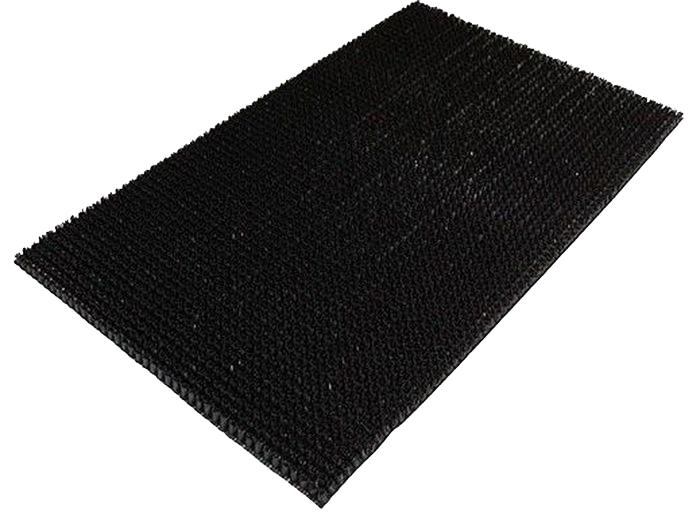 Коврик Sindbad, напольный, цвет: черный, 45 х 75 см. 701531-105Коврик Sindbad изготовлен из прочной резины высокого качества. Коврик легко моется водой. Изделие не меняет цвет со временем, не гниет, что гарантирует долгий срок службы.Эффективно очищает обувь от сильных загрязнений. Коврик обладает противоскользящим эффектом.Изделие прекрасно защищает от песка, грязи и пыли.