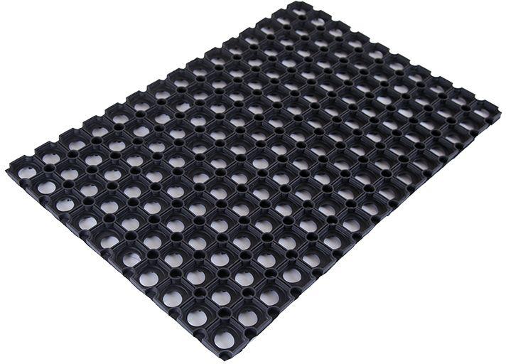 Коврик Sindbad, напольный, цвет: черный, 45 х 75 см. RH531-105Коврик Sindbad изготовлен из прочной резины высокого качества. Коврик легко моется водой. Изделие не меняет цвет со временем, не гниет, что гарантирует долгий срок службы. Коврик имеет сквозные отверстия - ячейки особой формы, что позволяет надежно собирать снег и грязь с обуви и защищать от скольжения.Изделие прекрасно защищает от песка, грязи и пыли.Возможно использование вне помещений при температуре ниже 35 градусов.