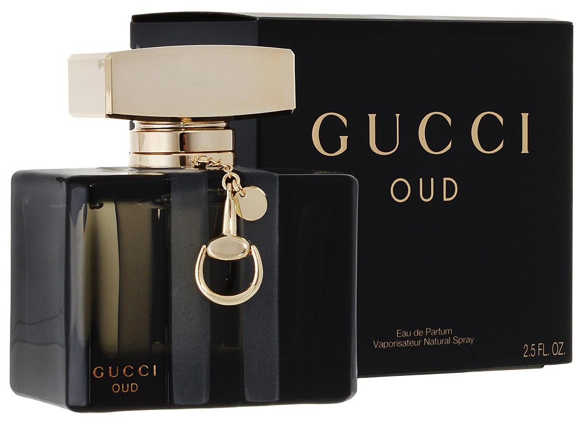 Gucci Oud Парфюмированная вода женская 75 мл3SLife29-J-5Gucci Oud – стильный, гламурный и немного загадочный восточно-древесный унисекс парфюм от бренда Gucci. Аромат является фланкером парфюма Gucci 2007 года. Редакция 2014 года посвящена очень популярному в наше время аромату дерева уд. Его элегантный и очень гармоничный запах вдохновляет множество парфюмеров на создание ароматов на его основе. Но Аромат от Гуччи звучит совершенно по-особенному, соединив стильный восточный уд с изысканной роскошью западных парфюмов. Даже дымчатый, почти черный с золотистой пробкой и крошечным золотым брелком флакон является самим воплощением элегантности и стиля. Парфюм раскрывается фруктовыми нотами спелой, чуть прохладной груши и бархатистой малины, дополненными изысканным пряным ароматом шафрана. Сердце аромата наполнено роскошным бархатистым ароматом розы и терпковато-медовым запахом цветов апельсинового дерева. Роскошный элегантный уд лежит в базе аромата, окруженный теплыми нотами пачули, нежным мускусом и почти призрачной амброй.