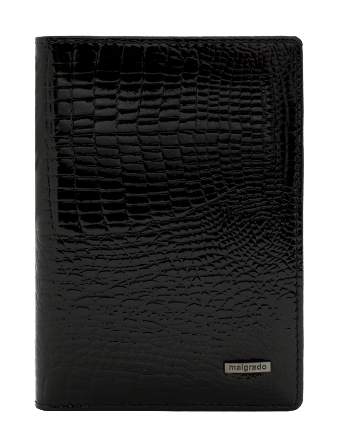Обложка для паспорта Malgrado, цвет: черный. 54019-1-46#OK423Стильная обложка для паспорта Malgrado изготовлена из натуральной лакированной кожи черного цвета с тиснением под рептилию. Внутри содержит прозрачное пластиковое окно, съемный прозрачный вкладыш для полного комплекта автодокументов, пять отделений для кредитных и дисконтных карт. Обложка упакована в подарочную картонную коробку с логотипом фирмы. Такая обложка станет замечательным подарком человеку, ценящему качественные и практичные вещи. Характеристики:Материал: натуральная кожа, пластик. Размер обложки: 13,5 см х 9,5 см х 1,5 см. Цвет: черный. Размер упаковки:15,5 см х 11,5 см х 3,5 см. Артикул: 54019-1-46#.