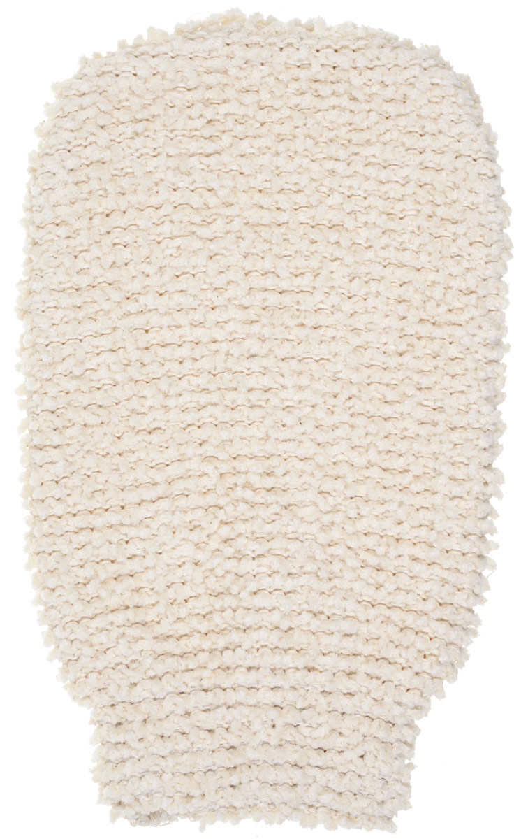 Варежка из шинили Riffi для пилинга и массажа, цвет: молочный Арт. 409 riffi повязка для волос цвет коралловый
