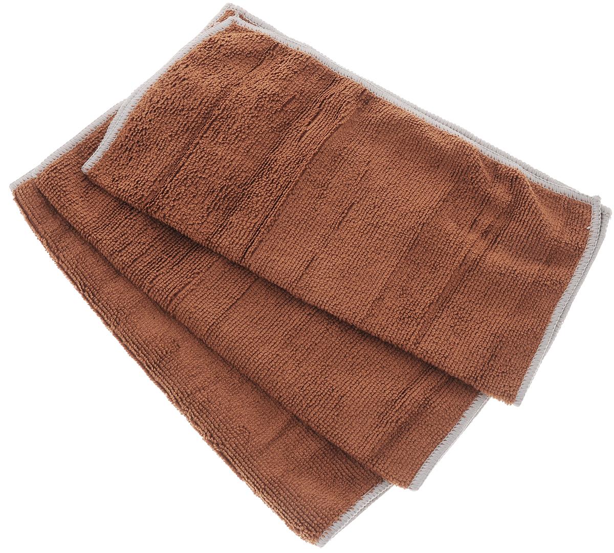 Набор универсальных салфеток Фэйт Вэриес, цвет: коричневый, 30 х 30 см, 3 штBH-UN0502( R)Набор Фэйт Вэриес состоит из 3 универсальных салфеток, выполненных из микрофибры. Такие салфетки не оставляют ворсинок, подходят для многократного использования, отлично впитывают влагу.Комплектация: 3 шт.Размер салфетки: 30 х 30 см.