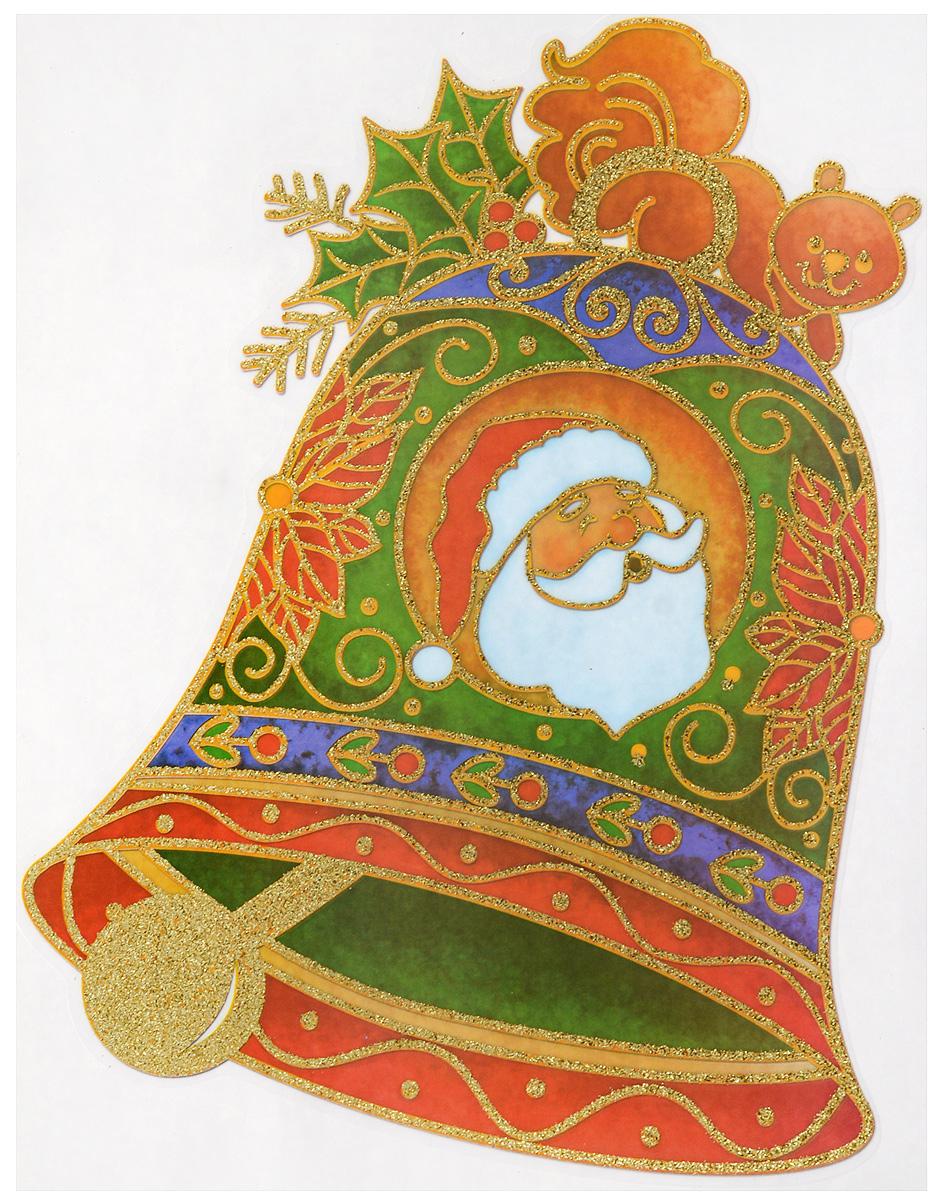 Новогоднее оконное украшение Winter Wings Колокольчик, 20 х 26 смN09219Новогоднее оконное украшение Winter Wings Колокольчик выполнено из ПВХ в виде колокольчика.С помощью наклейки Winter Wings Колокольчик можно составлять на стекле целые зимние сюжеты, которые будут радовать глаз, и поднимать настроение в праздничные дни! Так же Вы можете преподнести этот сувенир в качестве мини-презента коллегам, близким и друзьям с пожеланиями счастливого Нового Года!