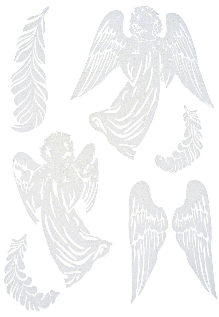 Украшение новогоднее оконное Winter Wings Ангелочки, 6 шт72502Новогоднее оконное украшение Winter Wings Ангелочки поможет украсить дом к предстоящим праздникам. Наклейки изготовлены из самоклеющегося поливинилхлорида. С помощью этих украшений вы сможете оживить интерьер по своему вкусу: наклеить их на окно, на зеркало, стены и мебель. Новогодние украшения всегда несут в себе волшебство и красоту праздника. Создайте в своем доме атмосферутепла, веселья и радости, украшая его всей семьей.Размер листа: 29,5 х 40 см.Количество наклеек на листе: 6 шт.Размер самой большой наклейки: 19 х 20,5 см.Размер самой маленькой наклейки: 7,5 х 10 см.