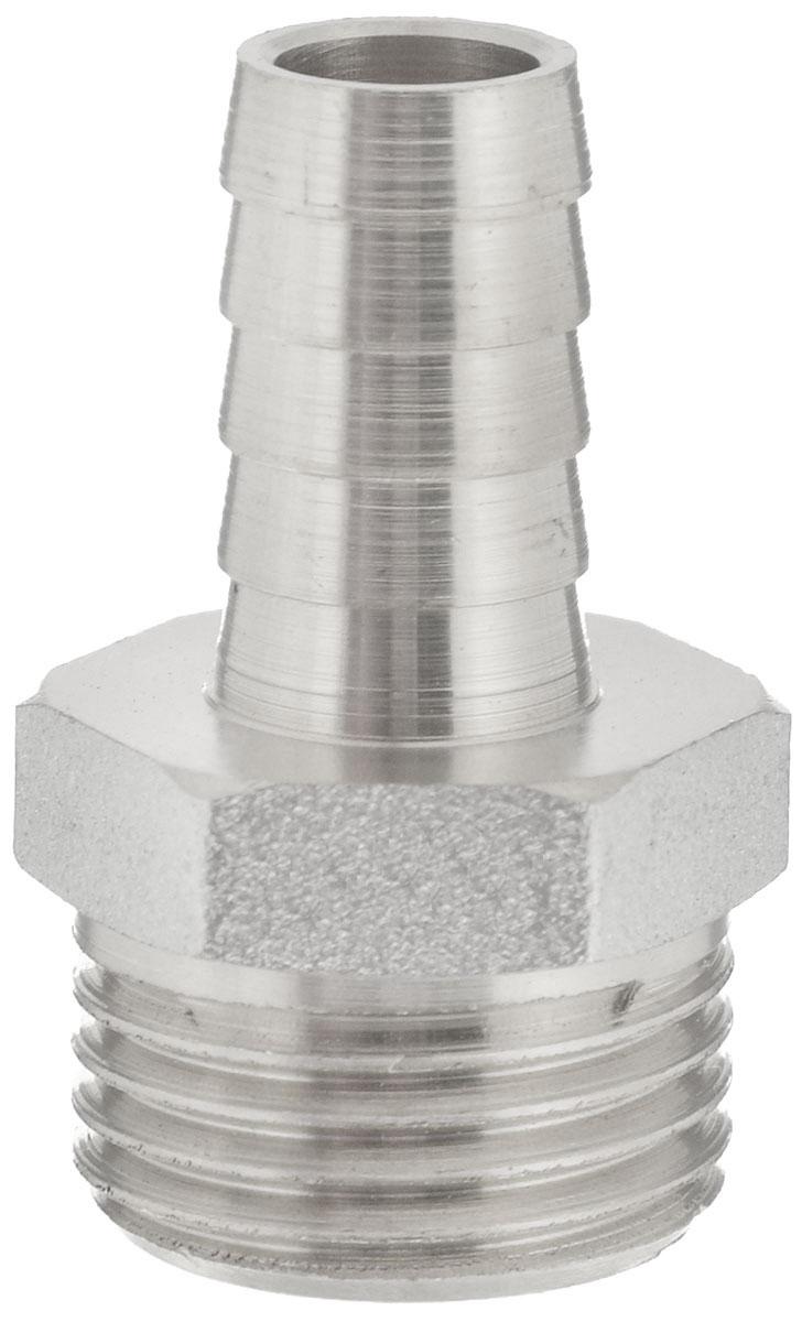 Переходник U-Tec, для резинового шланга, 1/2 х 10 мм68/5/4Переходник U-Tec предназначен для соединения резьбовых соединений с резиновым шлангом. Изделие изготовлено из прочной и долговечной латуни. Никелированное покрытие на внешнем корпусе защищает изделие от окисления. Продукция под торговой маркой U-Tec прошла все необходимые испытания и по праву может считаться надежной.Размер ключа: 21 мм.Присоединительные размеры: 1/2