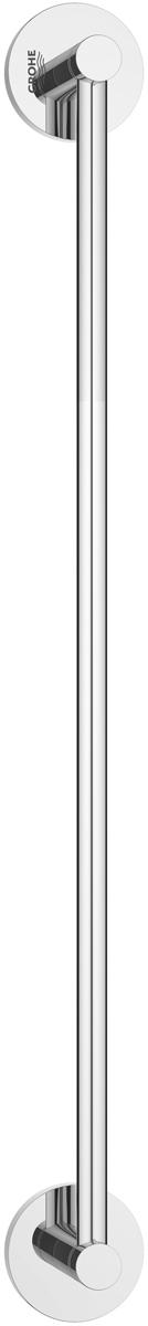 Держатель для полотенца Grohe Essentials, длина 50 см68/5/3Держатель для полотенца Grohe Essentials изготовлен из латуни. Держатель предназначен для полотенца средних размеров (может вмещать полотенца до 60 см шириной). Универсальный дизайн и функциональность позволит вписаться изделию и интерьер любой ванной комнаты. Держатель изготовлен с нанесением износостойкого покрытия Grohe StarLight®, устойчивого к царапинам и загрязнению. Покрытие, выполненное по специальным технологиям, придает изделию сияющий вид. Держатель крепится к стене при помощи шурупов, входящих в комплект.