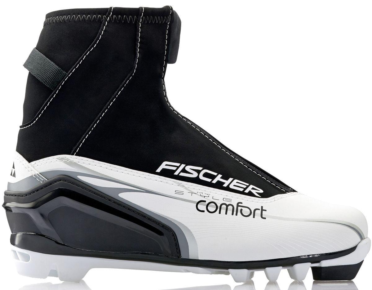 Ботинки лыжные женские Fischer XC Comfort My Style, цвет: черный, белый. S29914. Размер 37S29914Ботинки лыжные беговые Fischer XC Comfort My Style - отличный выбор для стильных лыжниц. Высокий клапан на молнии и водоотталкивающий утеплитель Comfort Guard защищает от холода и проникновения влаги при катании.ТЕХНОЛОГИИ:LADIES FIT CONCEPTДля женской целевой группы разработан свой тип колодки, который обеспечивает наилучший комфорт при катании и максимальную передачу энергии.INJECTED EXTERIOR HEEL CAPНаружная пластиковая вставка анатомической формы в пяточной части обеспечивает комфортное облегание ботинок и отличную передачу энергии. EASY ENTRY LOOPSШирокое раскрытие ботинка и практичная петля на пятке облегчают надевание/ снимание ботинок. LACE COVERДополнительная защита шнуровки предотвращает проникновение влаги и холода. CLEANSPORT NXTСпециальная пропитка подкладки и стелек ботинок. Система из полезных микробов, которые устраняют неприятный запах. COMFORT GUARDОчень легкий, водоотталкивающий изоляционный материал дополнительно защищает от холода мысок и переднюю часть стопы.