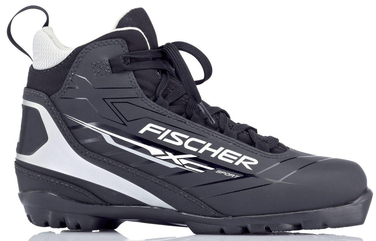 """Ботинки лыжные мужские Fischer """"XC Sport Black"""", цвет: черный, белый. S23513. Размер 41"""