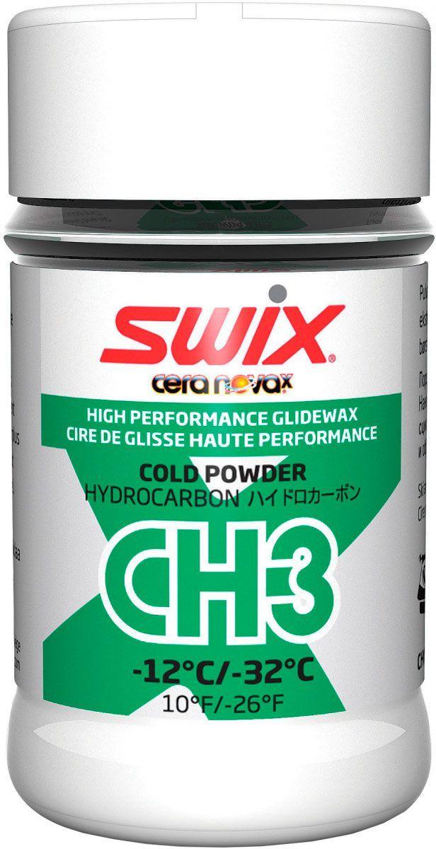Мазь скольжения Swix CH3X Cold Powder -12C / -32C, 30 гone116CH3 ХОЛОДНЫЙ ПОРОШОКупаковка 30 г-12°С…-32°СЭто специальная синтетическая углеводородная порошковая мазь скольжения, придающая другим мазям скольжения свойства, улучшающие их износоустойчивость и увеличивая прочность мази при абразивных условиях скольжения. Предназначена для жесткого снега, свежего искусственного снега. Порошок следует наносить на мазь скольжения, пока та находится в расплавленном состоянии или, по крайней мере, пока она не остыла. Даже большое количество CH3 не будет препятствовать хорошему скольжению. Затем следует проутюжить CH3 в слой мази скольжения. Дать полностью остыть, обработать скребком, затем пройтись щеткой.