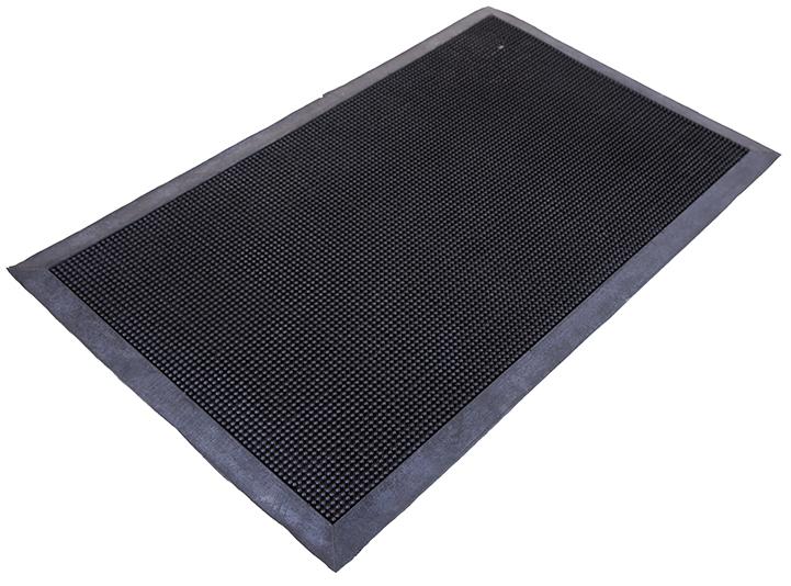 Коврик Sindbad, напольный, прямоугольный, цвет: черный, 45 х 75 см. 2043F0150739RAКоврик Sindbad изготовлен из прочной резины высокого качества. Коврик легко моется водой. Изделие не меняет цвет со временем, не гниет, что гарантирует долгий срок службы.Эффективно очищает обувь от сильных загрязнений. Коврик обладает противоскользящим эффектом.Изделие прекрасно защищает от песка, грязи и пыли.