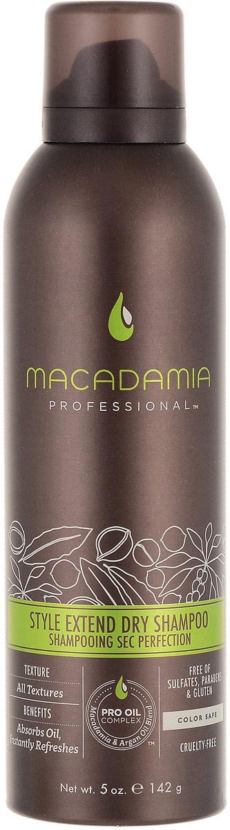 Macadamia Professional Сухой шампунь Продли свой Стиль, 150 мл4604903000066Легкий сухой шампунь Macadamia Professional с экстрактами алое вера, цветов пассифлоры и рисовым крахмалом продлевает срок укладки и созданного образа. Абсорбирует загрязнения и себум, мгновенно освежает волосы. Ваши волосы снова чистые, подвижные и объемные!