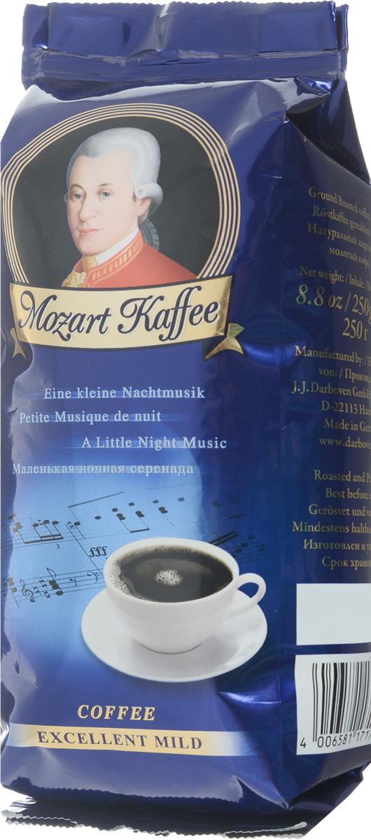 J.J. Darboven Mozart Kaffee Mild кофе молотый, 250 г0120710Молотый кофе J.J. Darboven Mozart Kaffee Mild неподражаем, как музыка композитора, в честь которого назван этот кофе.Композиция элитных зерен лучший плантаций мира, произведенная по традиционной технологии.