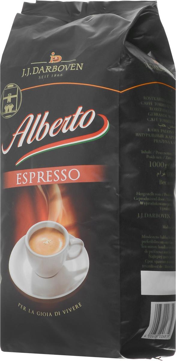 J.J. Darboven Alberto Espresso кофе в зернах, 1 кг5900420070063Кофе в зернах J.J. Darboven Alberto Espresso подходит для приготовления традиционных немецких эспрессо по уникальной рецептуре. О данном сорте положительно отзываются и тысячи любителей кофе, и настоящие гурманы или эксперты.Этот кофе уже долгие годы занимает первые места на немецком рынке, и теперь каждый житель России может побаловать себя эксклюзивным купажом! Средняя обжарка кофейных зерен из лучших плантаций позволяет создавать напитки с изысканным ароматом и бодрящим вкусом без горечи, которым невозможно не насладиться.