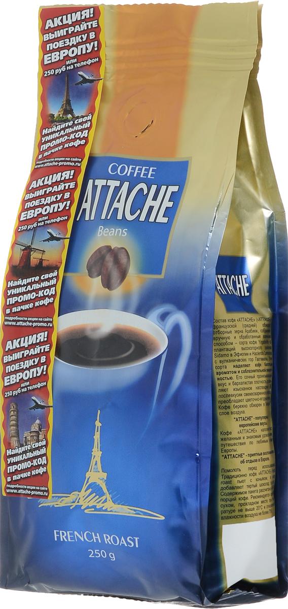 Attache Французская обжарка кофе в зернах, 250 г0120710Кофе молотый Attache Французская обжарка средней обжарки приготовлен из редких сортов кофе Арабика Yirgacheffe с плантаций высокогорного района Sidamo в Эфиопии и кофе Hacienda Carmona с вулканических гор Гватемалы. Эти сорта наделяют кофе богатым ароматом и соблазнительной пикантностью. Его сочный пронизывающий вкус и бархатистая плотность доставляют изысканное наслаждение цветочно-ягодными нотками в тягучем напитке.