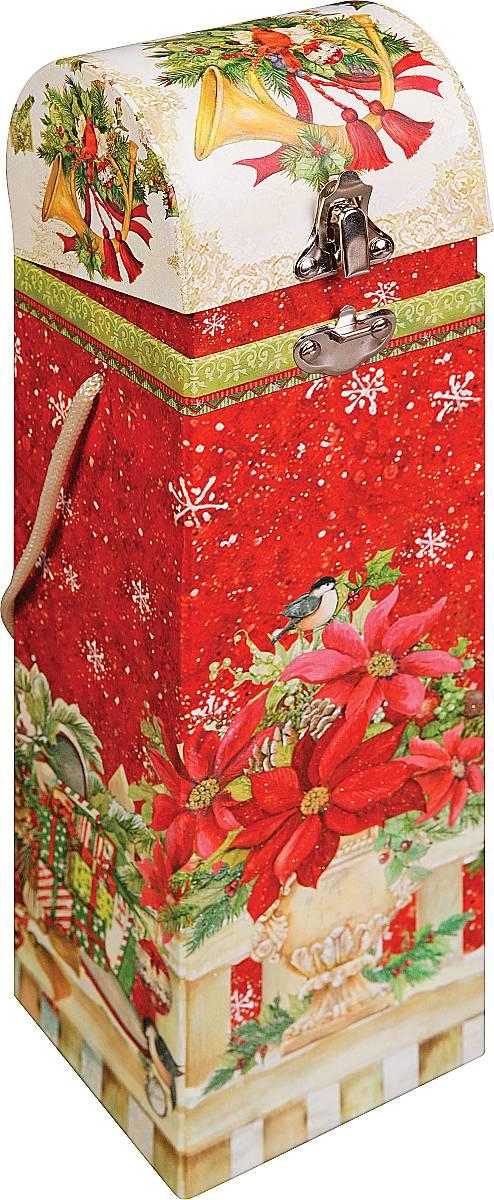 Упаковка новогодняя для бутылки Mister Christmas Пуансеттия, 9,5 х 9,5 х 33 смBUL010В качестве подарка к новогоднему столу мы нередко берем бутылку хорошего вина или шампанского. Как и любой другой этот подарок тоже нуждается в упаковке. Для этого предусмотрена упаковка Mister Christmas Пуансеттия. Изделие выполнено из плотного картона. Для удобства переноски предусмотрена специальная лента-шнурок. Упаковка отличается красочным дизайном: яркий красный фон с белыми снежинками дополняют маленький снегирь и рождественский цветок - пуансеттия. Верх украшен еловой веткой с традиционными золотыми колокольчиками. В отличии от бумажного пакета эта упаковка для бутылки имеет крышку и небольшой металлический замочек. Размеры делают ее подходящей для бутылок различного вида. Бутылка хорошего алкоголя в такой фирменной упаковке станет прекрасным новогодним презентом для ваших клиентов и партнеров по бизнесу. Праздничная упаковка для бутылки не только надежно защитит бутылку от повреждений, но и создаст о вас хорошее впечатление.