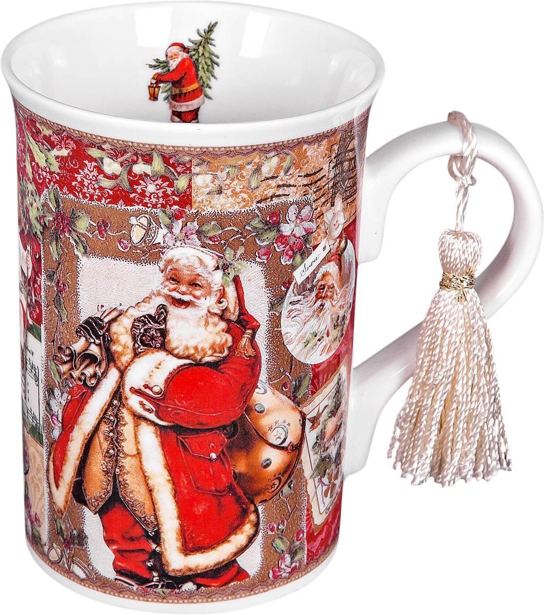 Кружка Mister Christmas Дед Мороз, высота 11 см54 009312Кружка Mister Christmas Дед Мороз изготовлена из качественного глазурованного фарфора. Внешние стенки декорированы красивыми новогодними рисунками. Такая кружка согреет вас горячим напитком и станет неизменным атрибутом чаепития. Отличный новогодний подарок для друзей и близких.