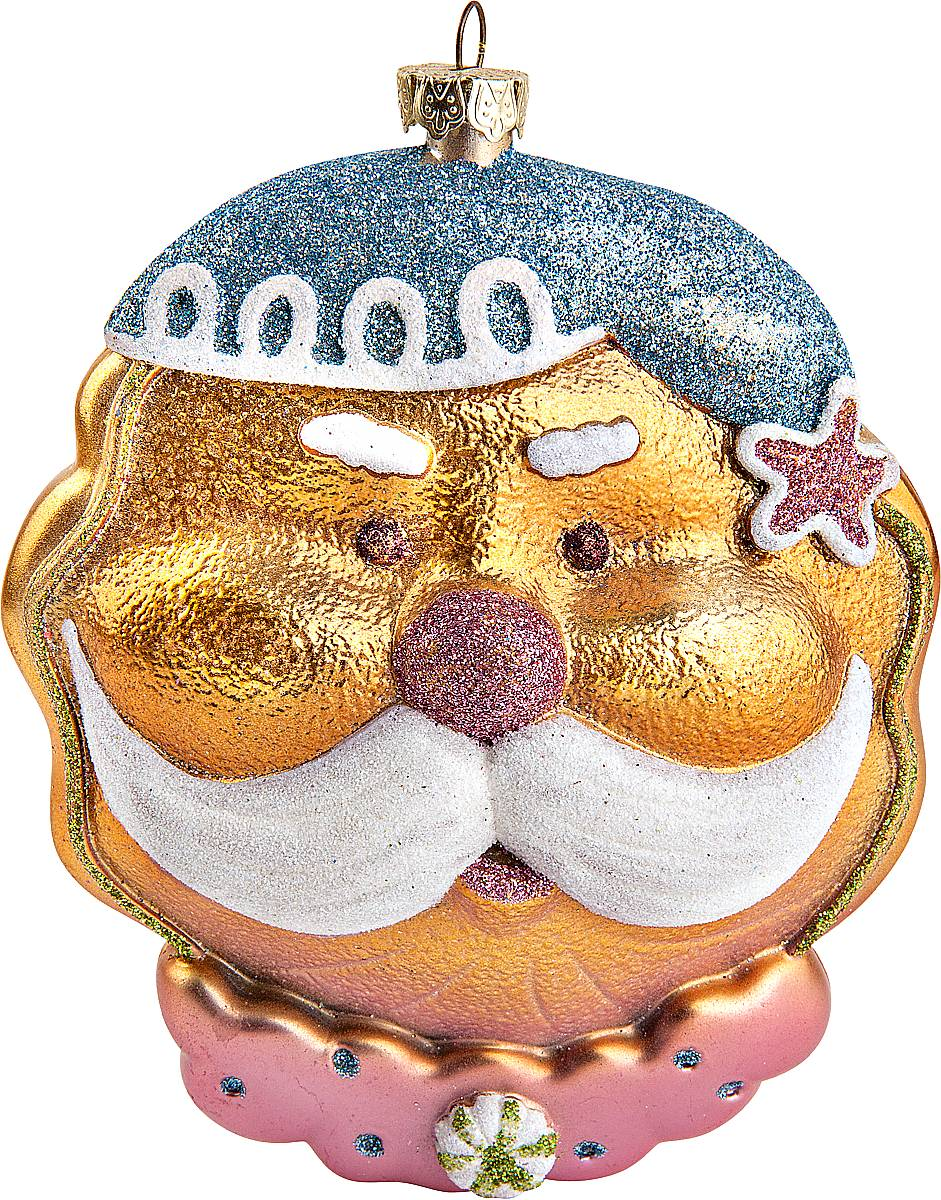 Украшение новогоднее подвесное Mister Christmas Дед Мороз, высота 12 смCD-01Подвесное украшение Mister Christmas Дед Мороз имеет оригинальный дизайн и превосходное исполнение. Изделие выполнено из пластика в виде головы любимого всеми Дедушки Мороза. Большие белые усы, праздничный колпак, добродушное выражение лица - все продумано до мелочей. В качестве дополнительного декора были использованы блестки. Для удобного размещения на елке предусмотрена петелька.Такое украшение станет замечательным новогодним подарком, который никого не оставит равнодушным.