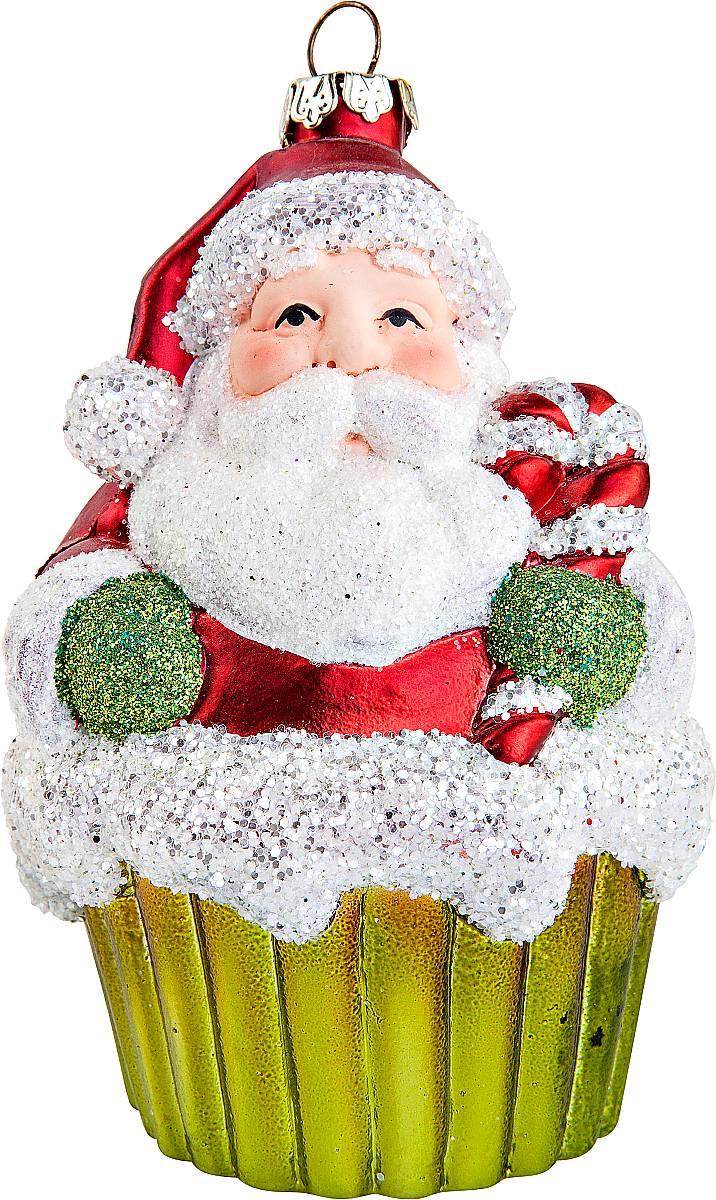 Украшение новогоднее подвесное Mister Christmas Дед Мороз, высота 11 см. CD-12ANTI-2Подвесное украшение Mister Christmas Дед Мороз имеет оригинальный дизайн и превосходное исполнение. Изделие выполнено из пластика в виде любимого всеми Дедушки Мороза. Большие белые усы, праздничный колпак, добродушное выражение лица - все продумано до мелочей. В качестве дополнительного декора были использованы блестки. Для удобного размещения на елке предусмотрена петелька.Такое украшение станет замечательным новогодним подарком, который никого не оставит равнодушным.