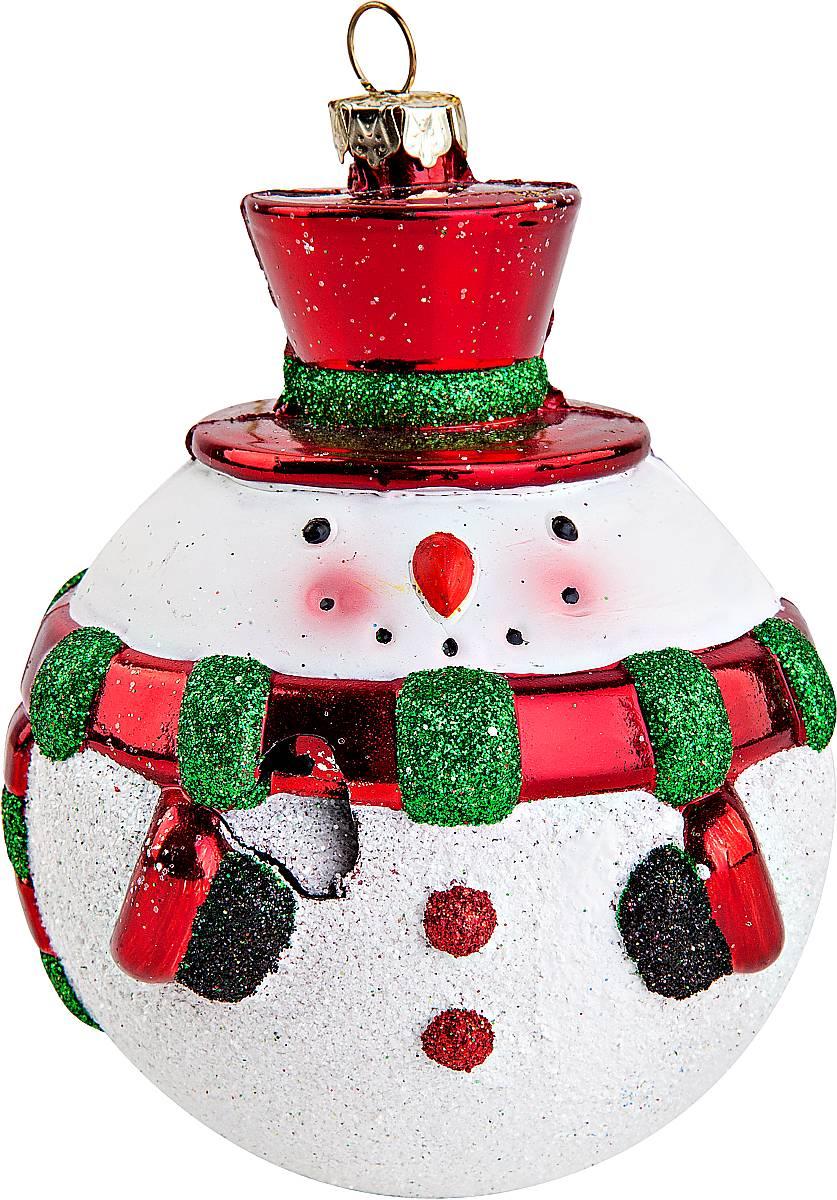 Украшение новогоднее подвесное Mister Christmas Снеговик, цвет: белый, красный, зеленый, высота 12 см2372221Новогоднее подвесное украшение Mister Christmas Снеговик прекрасно подойдет для праздничного декора новогодней ели. Украшение выполнено из пластика. Для удобного размещения на елке предусмотрена петелька. Елочная игрушка - символ Нового года. Она несет в себе волшебство и красоту праздника. Создайте в своем доме атмосферу веселья и радости, украшая новогоднюю елку нарядными игрушками, которые будут из года в год накапливать теплоту воспоминаний.