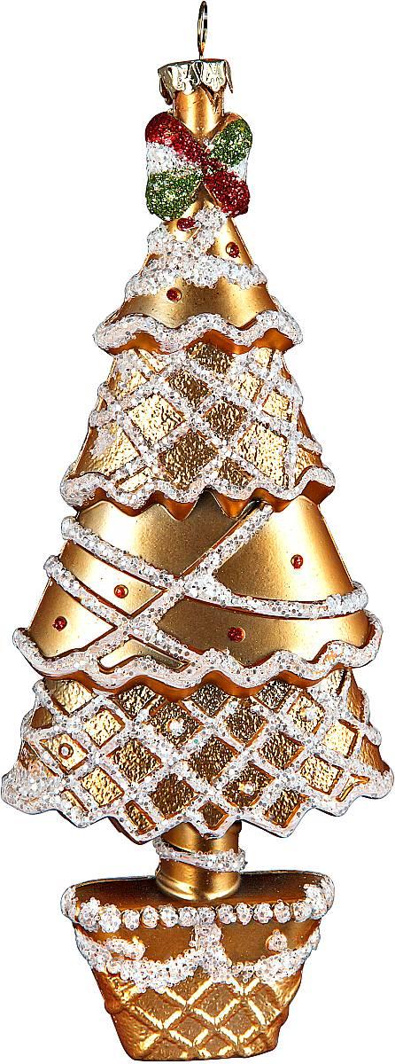 Украшение новогоднее подвесное Mister Christmas Елка, цвет: золотистый, серебристый, высота 18 см42169В новогодние дни одним из главных украшений дома становится елка. А чтобы ее нарядить, нужны игрушки. Чем они ярче, тем лучше. Подвесное украшение Mister Christmas Елка поможет сделать вашу елку еще красивее. Изделие изготовлено из прочного пластика, и выможете не переживать, что оно быстро разобьется при падении. Украшение декорировано разноцветными вставками, мишурой и бусами в виде блесток. Для удобного размещения на елке предусмотрена петелька. Такое украшение станет хорошим сувениром к празднику для коллег и друзей.