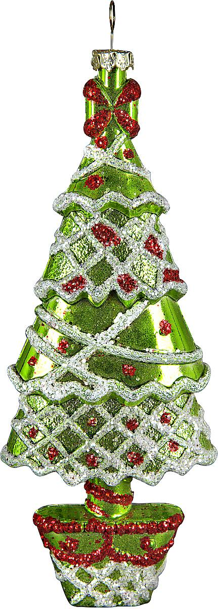 Украшение новогоднее подвесное Mister Christmas Елка, цвет: зеленый, серебристый, высота 18 смPM-14-6TВ новогодние дни одним из главных украшений дома становится елка. А чтобы ее нарядить, нужны игрушки. Чем они ярче, тем лучше. Подвесное украшение Mister Christmas Елка поможет сделать вашу елку еще красивее. Изделие изготовлено из прочного пластика и можете не переживать, что оно быстро разобьется при падении. Украшение декорировано разноцветными вставками, мишурой и бусами в виде блесток. Для удобного размещения на елке предусмотрена петелька. Такое украшение станет хорошим сувениром к празднику для коллег и друзей.