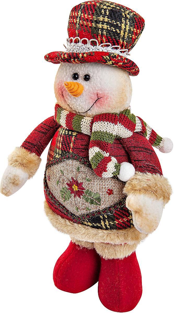 Игрушка новогодняя мягкая Mister Christmas Снеговик, высота 28 см531-402Мягкая новогодняя игрушка Mister Christmas Снеговик, изготовленная из текстиля, прекрасно подойдет для праздничного декора дома. Изделие можно разместить в любом понравившемся вам месте. Новогодняя игрушка несет в себе волшебство и красоту праздника. Создайте в своем доме атмосферу веселья и радости, украшая дом красивыми игрушками, которые будут из года в год накапливать теплоту воспоминаний.Высота игрушки: 28 см.
