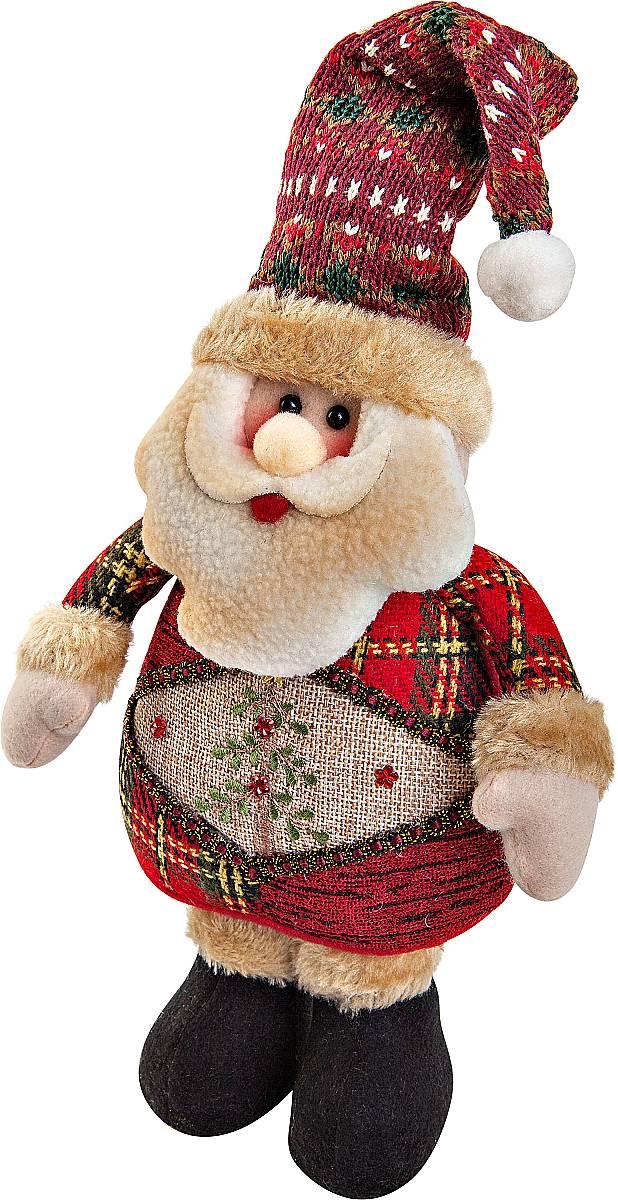Игрушка новогодняя мягкая Mister Christmas Дед Мороз, высота 28 см6062_оранжевыйМягкая новогодняя игрушка Mister Christmas Снеговик, изготовленная из текстиля, прекрасно подойдет для праздничного декора дома. Изделие можно разместить в любом понравившемся вам месте. Новогодняя игрушка несет в себе волшебство и красоту праздника. Создайте в своем доме атмосферу веселья и радости, украшая дом красивыми игрушками, которые будут из года в год накапливать теплоту воспоминаний.Высота игрушки: 28 см.