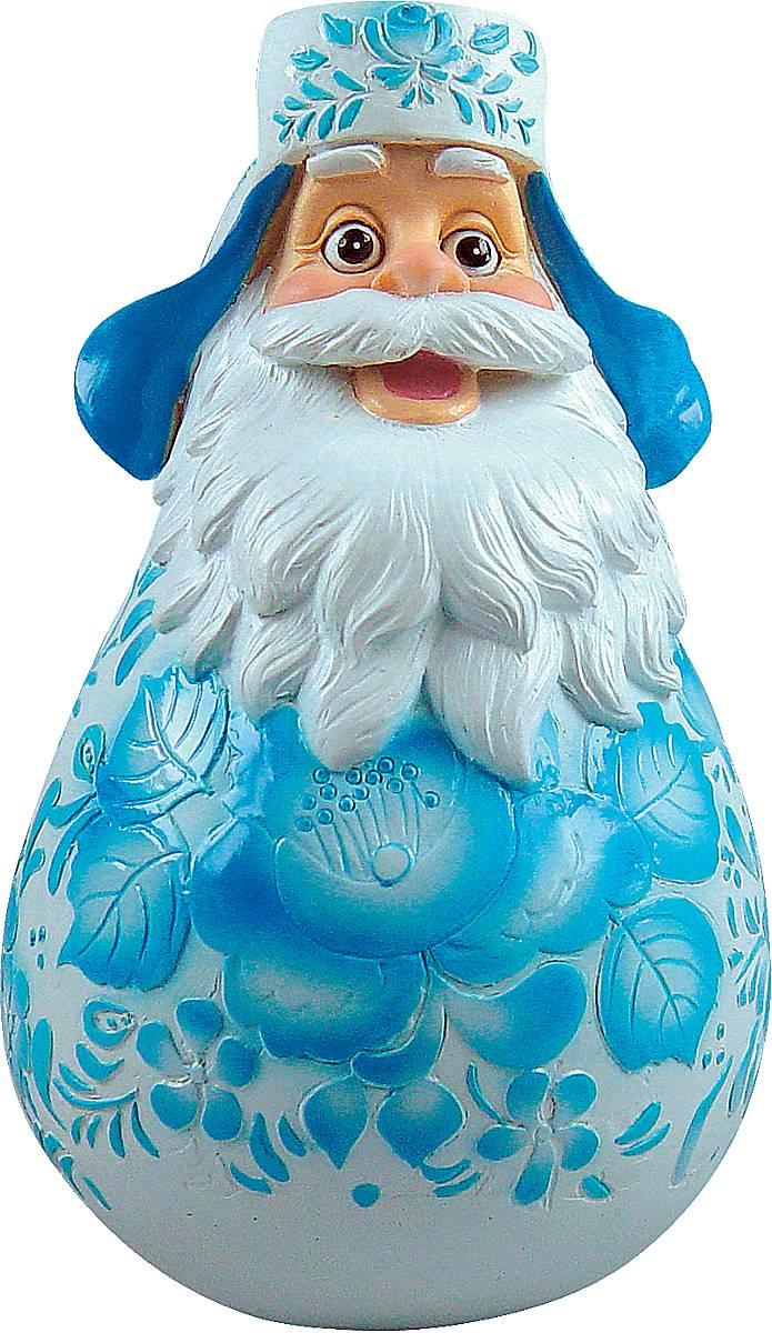 Фигурка-неваляшка новогодняя Mister Christmas Дед Мороз, высота 11 см. DKM-01TM-S-2Новогодняя фигурка-неваляшка Mister Christmas Дед Мороз выполнена из высококачественного полистоуна и украшена росписью под гжель. Изделие представлено виде Деда Мороза с густыми усами и бородой, он одет в шапку-ушанку. Игрушка изготовлена полностью вручную, что делает ее не только оригинальным, но эксклюзивным сувениром. Такая фигурка оформит интерьер вашего дома или офиса в преддверии Нового года. Кроме того, это отличный вариант подарка для ваших близких и друзей.Высота: 11 см.