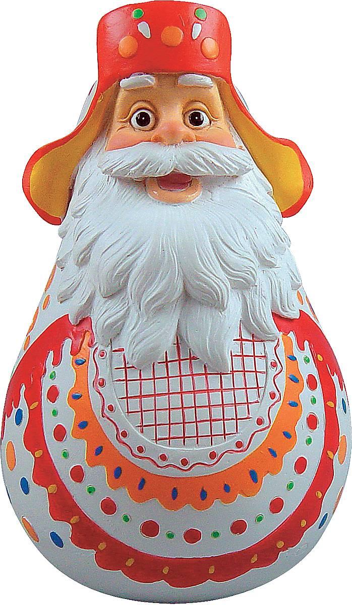 Фигурка-неваляшка новогодняя Mister Christmas Дед Мороз, высота 11 см. DKM-02LH-F2-SET/4Новогодняя фигурка-неваляшка Mister Christmas Дед Мороз выполнена из высококачественного полистоуна и украшена цветами и элементами старинной дымковской росписи. Изделие представлено виде Деда Мороза с густыми усами и бородой, он одет в шапку-ушанку. Игрушка изготовлена полностью вручную, что делает ее не только оригинальным, но эксклюзивным сувениром. Такая фигурка оформит интерьер вашего дома или офиса в преддверии Нового года. Кроме того, это отличный вариант подарка для ваших близких и друзей.Высота: 11 см.