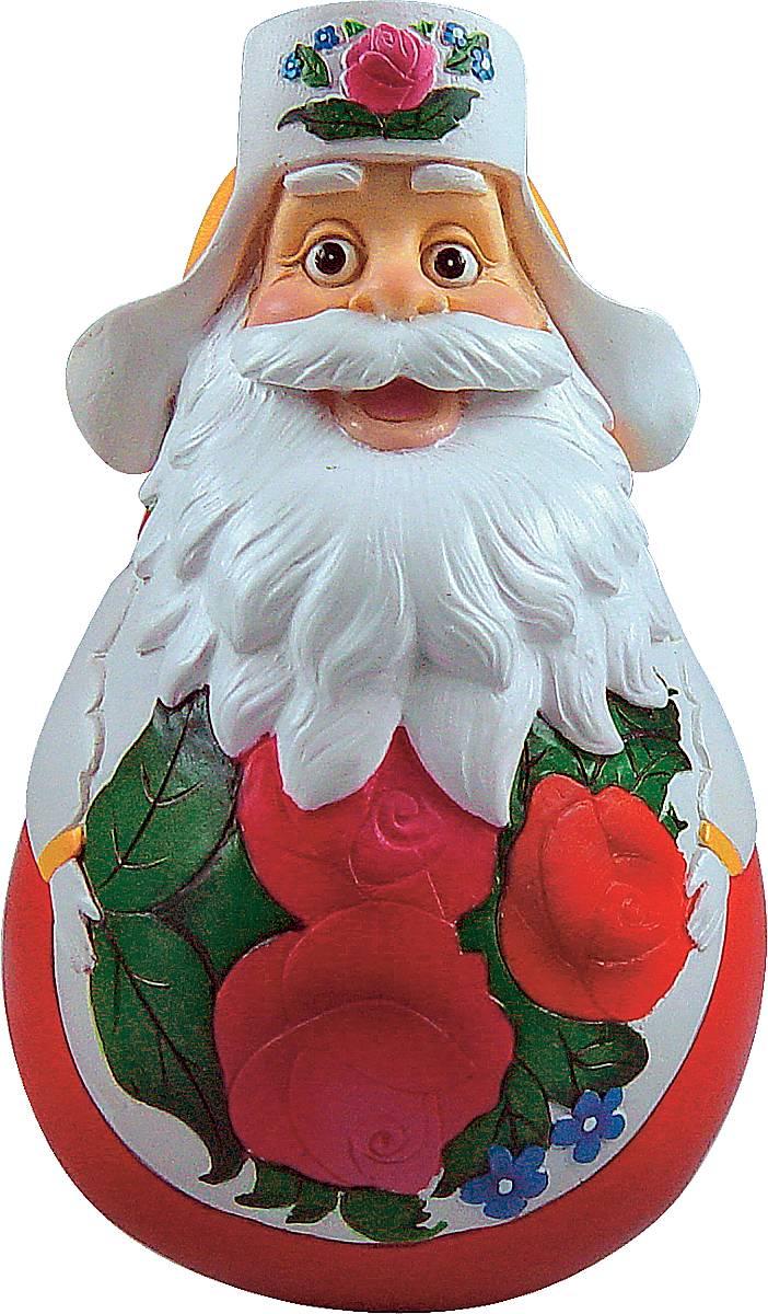 Фигурка-неваляшка новогодняя Mister Christmas Дед Мороз, высота 11 см. DKM-05PM-13-6Новогодняя фигурка-неваляшка Mister Christmas Дед Мороз выполнена из высококачественного полистоуна. Изделие представлено виде Деда Мороза с густыми усами и бородой, он одет в шапку-ушанку. Игрушка изготовлена полностью вручную, что делает ее не только оригинальным, но эксклюзивным сувениром. Такая фигурка оформит интерьер вашего дома или офиса в преддверии Нового года. Кроме того, это отличный вариант подарка для ваших близких и друзей.Высота: 11 см.
