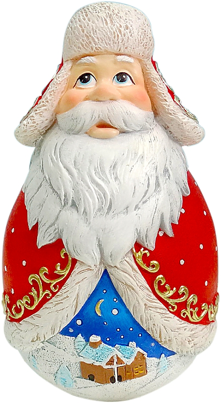 Фигурка-неваляшка новогодняя Mister Christmas Дед Мороз, высота 11 см. DKMB-0320112044Новогодняя фигурка-неваляшка Mister Christmas Дед Мороз выполнена из высококачественного полистоуна. Изделие представлено виде Деда Мороза с густыми усами и бородой, он одет в шубу и шапку-ушанку. Игрушка изготовлена полностью вручную, что делает ее не только оригинальным, но эксклюзивным сувениром. Такая фигурка оформит интерьер вашего дома или офиса в преддверии Нового года. Кроме того, это отличный вариант подарка для ваших близких и друзей.Высота: 11 см.