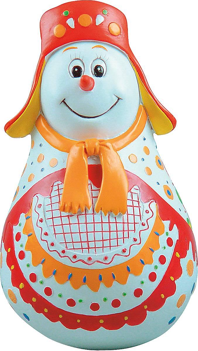 Фигурка-неваляшка новогодняя Mister Christmas Снеговик, высота 11 см. MKM-02PM-5-1GНовогодняя фигурка-неваляшка Mister Christmas Снеговик выполнена из высококачественного полистоуна и украшена цветами и элементами старинной дымковской росписи. Изделие представлено виде улыбчивого снеговика, который одет в шапку-ушанку и шарф. Игрушка изготовлена полностью вручную, что делает ее не только оригинальным, но эксклюзивным сувениром. Такая фигурка оформит интерьер вашего дома или офиса в преддверии Нового года. Кроме того, это отличный вариант подарка для ваших близких и друзей.Высота: 11 см.