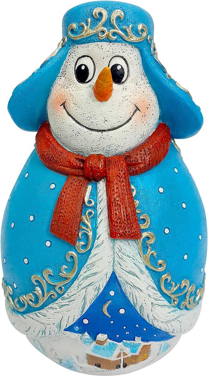 Фигурка-неваляшка новогодняя Mister Christmas Снеговик, высота 11 см. MKMB-03TM-D-1Новогодняя фигурка-неваляшка Mister Christmas Снеговик выполнена из высококачественного полистоуна и украшена элементами старинной росписи. Изделие представлено виде улыбчивого снеговика, который одет в шубу, шапку-ушанку и шарф. Игрушка изготовлена полностью вручную, что делает ее не только оригинальным, но эксклюзивным сувениром. Такая фигурка оформит интерьер вашего дома или офиса в преддверии Нового года. Кроме того, это отличный вариант подарка для ваших близких и друзей.Высота: 11 см.