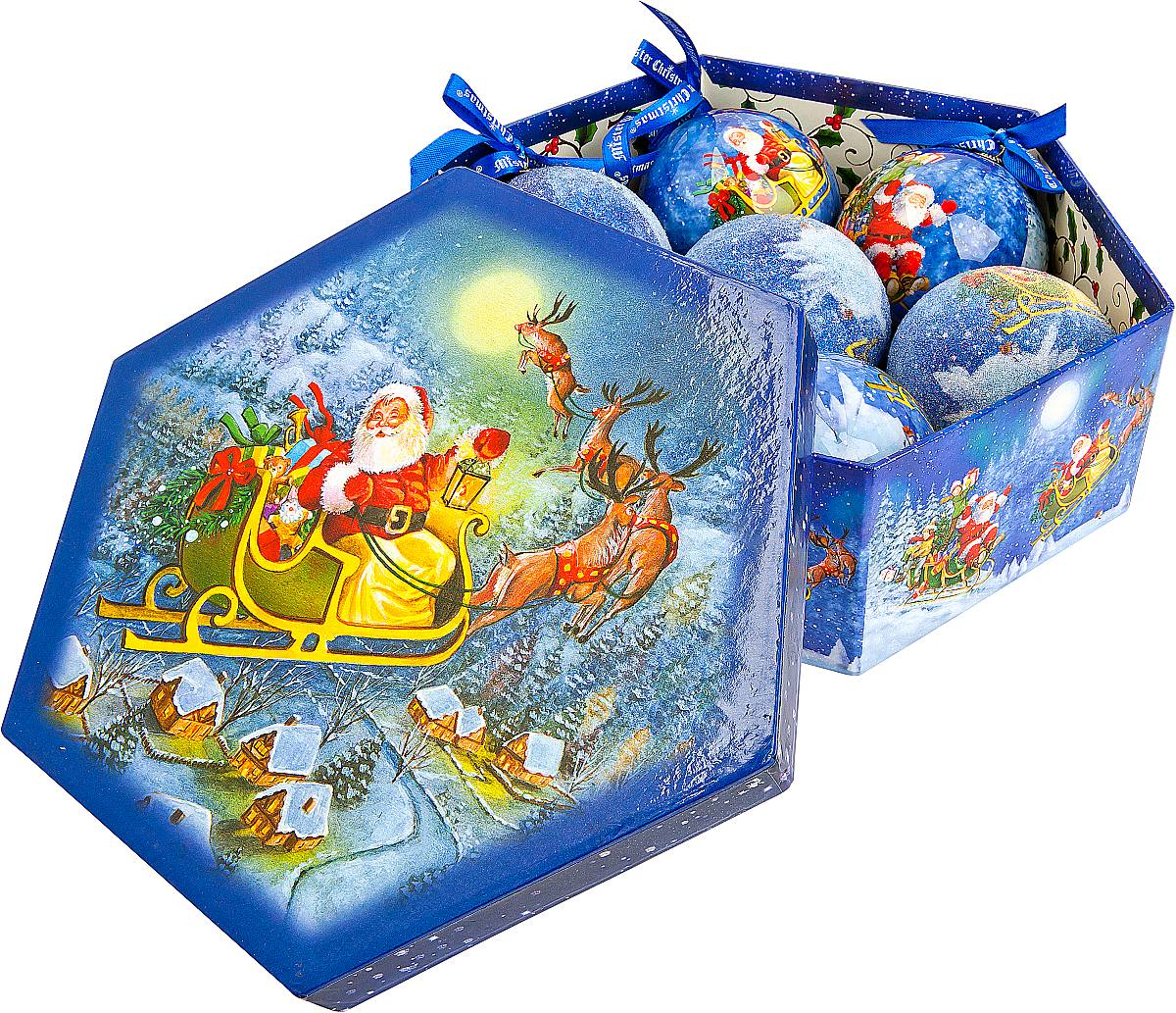 Набор новогодних подвесных украшений Mister Christmas Папье-маше, диаметр 7,5 см, 7 шт. PM-45-797775318Набор Mister Christmas Папье-маше состоит из 7 подвесных украшений ручной работы, изготовленные в технике папье-маше. Такие шары очень легкие, но в то же время удивительно прочные. На создание одной такой игрушки уходит несколько дней. И в результате получается настоящее произведение искусства! Все изделия оснащены атласной ленточкой с логотипом бренда Mister Christmas для подвешивания. Такие украшения станут превосходным подарком к Новому году, а так же дополнят коллекцию оригинальных новогодних елочных игрушек.