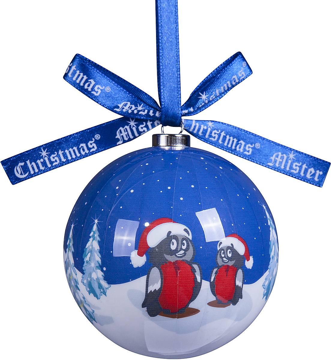 Украшение новогоднее подвесное Mister Christmas Папье-маше, диаметр 7,5 см. PM-54TM-S-2Подвесное украшение Mister Christmas Папье-маше выполнено вручную из бумаги и покрыто несколькими слоями лака. Такой шар очень легкий, но в то же время удивительно прочный. На создание одной такой игрушки уходит несколько дней. И в результате получается настоящее произведение искусства! Изделие оснащено атласной ленточкой с логотипом бренда Mister Christmas для подвешивания. Такое украшение станет превосходным подарком к Новому году, а так же дополнит коллекцию оригинальных новогодних елочных игрушек.