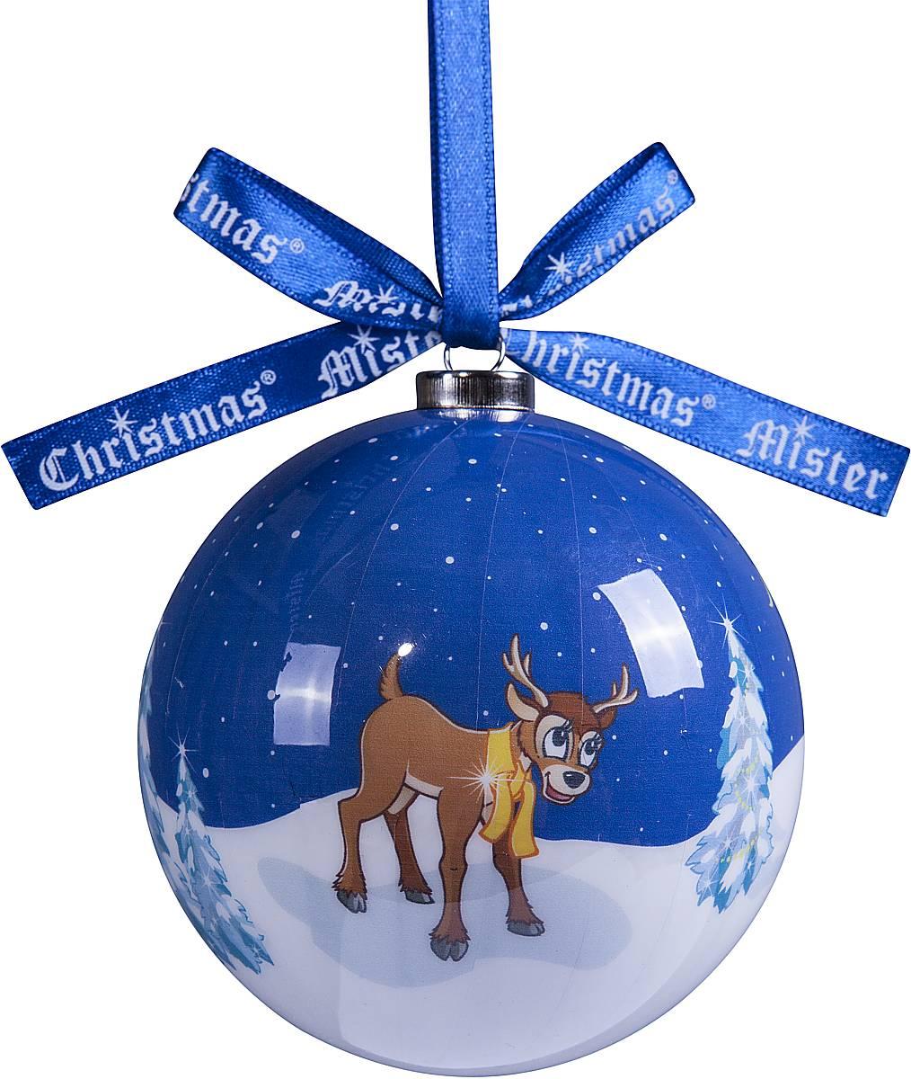 Украшение новогоднее подвесное Mister Christmas Папье-маше, диаметр 7,5 см. PM-55TM-S-SET/2Подвесное украшение Mister Christmas Папье-маше выполнено вручную из бумаги и покрыто несколькими слоями лака. Такой шар очень легкий, но в то же время удивительно прочный. На создание одной такой игрушки уходит несколько дней. И в результате получается настоящее произведение искусства! Изделие оснащено атласной ленточкой с логотипом бренда Mister Christmas для подвешивания. Такое украшение станет превосходным подарком к Новому году, а так же дополнит коллекцию оригинальных новогодних елочных игрушек.