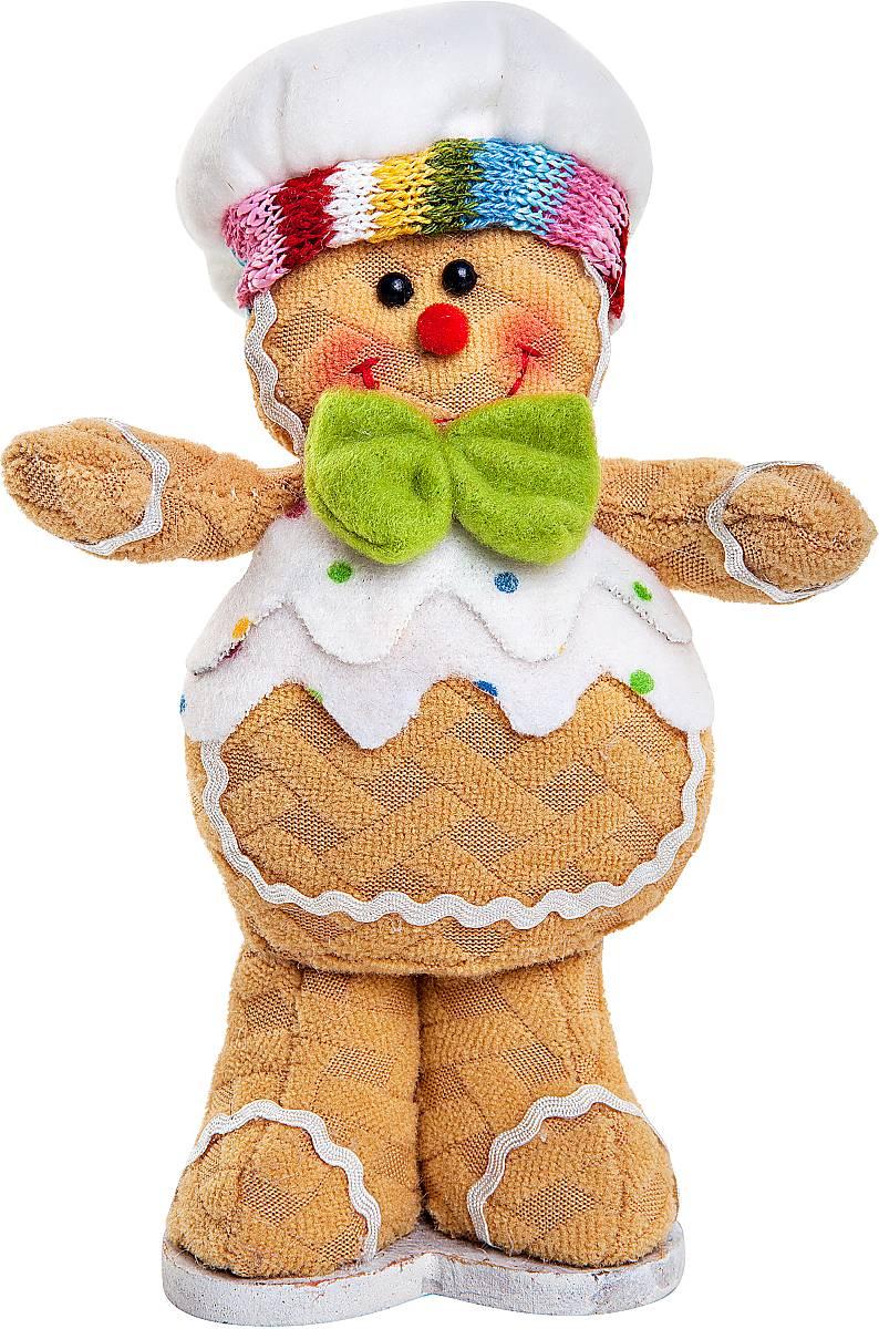 Игрушка новогодняя мягкая Mister Christmas Пряничный мальчик, высота 17 смDOL-1Мягкая новогодняя игрушка Mister Christmas Пряничный мальчик, изготовленная из текстиля, прекрасно подойдет для праздничного декора дома. Изделие можно разместить в любом понравившемся вам месте. Новогодняя игрушка несет в себе волшебство и красоту праздника. Создайте в своем доме атмосферу веселья и радости, украшая дом красивыми игрушками, которые будут из года в год накапливать теплоту воспоминаний.Высота игрушки: 17 см.