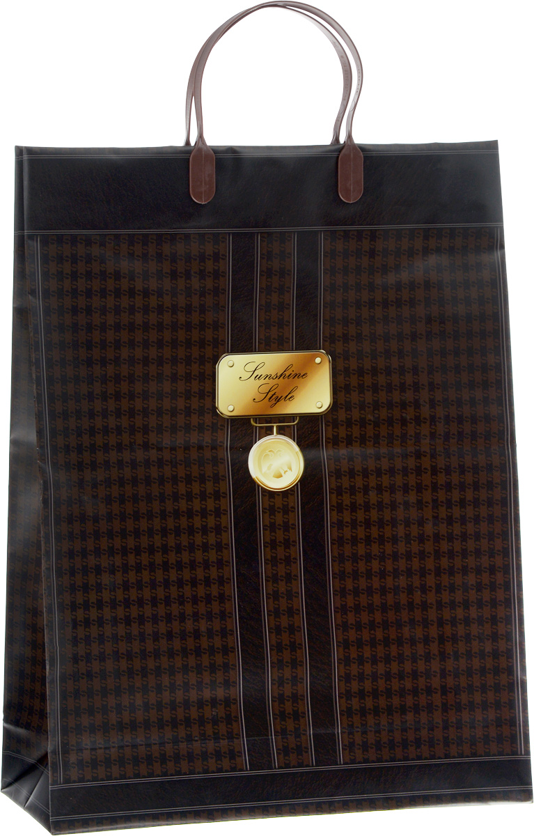 Пакет подарочный Bello, цвет: темно-коричневый, коричневый, золотой, 32 х 10 х 42 см. BAL 10119201Подарочный пакет Bello, изготовленный из пищевого полипропилена, станет незаменимым дополнением к выбранному подарку. Дно изделия укреплено плотным картоном, который позволяет сохранить форму пакета и исключает возможность деформации дна под тяжестью подарка. Для удобной переноски на пакете имеются две пластиковые ручки.Подарок, преподнесенный в оригинальной упаковке, всегда будет самым эффектным и запоминающимся. Окружите близких людей вниманием и заботой, вручив презент в нарядном, праздничном оформлении.Грузоподъемность: 12 кг.Морозостойкость: до -30°С.