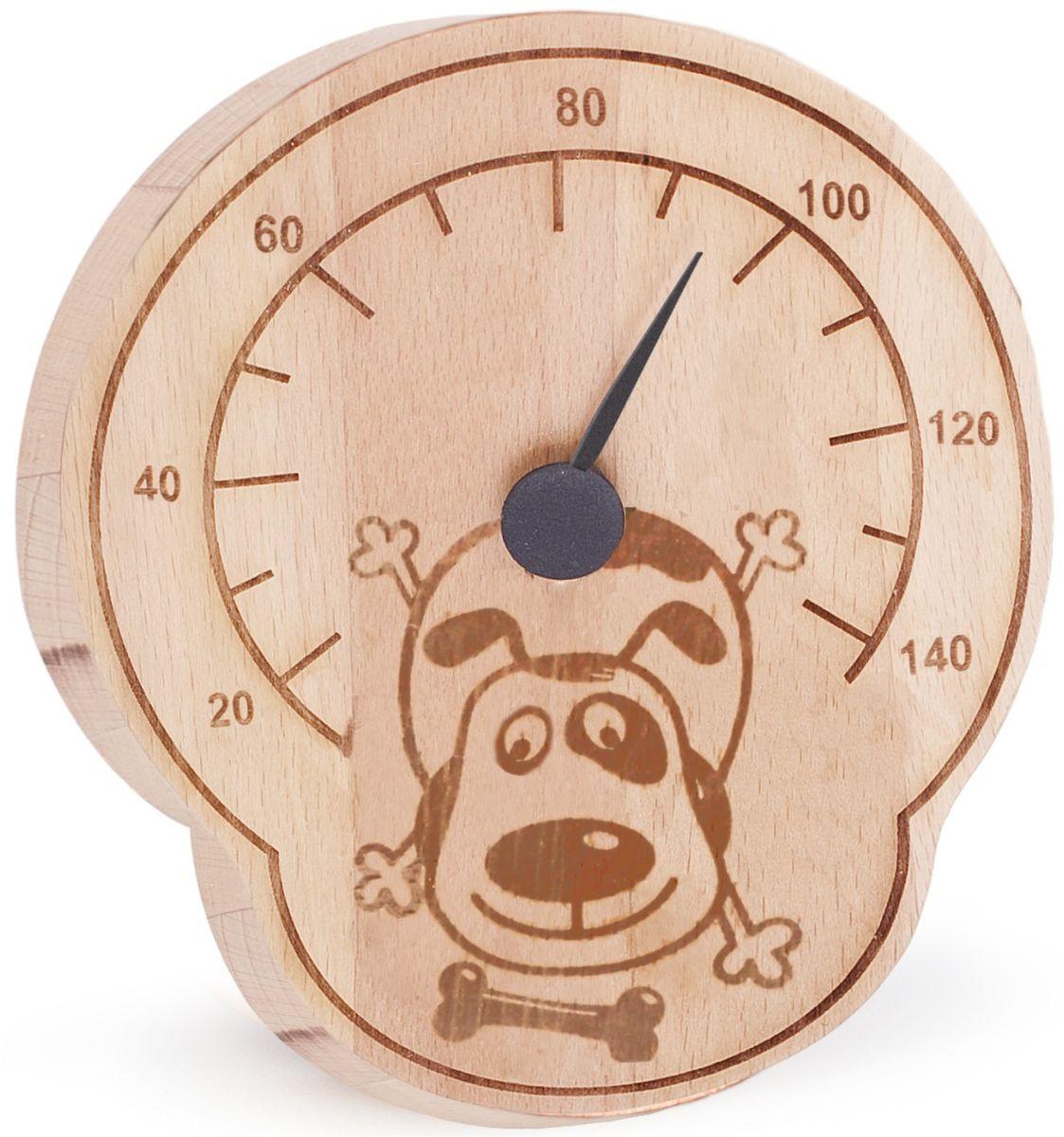 Термометр для бани и сауны Tapio (Тапио). 263Б1951Термометры серии Tapio (Тапио) выполнены из древесины бука, обладающего притягательным розоватым цветом, ее плотность прекрасно переносит перепады температуры, что увеличивает срок службы изделий. Созданные для контроля оптимальной температуры в бане и сауне, они задают стиль банного интерьера.Стрелка механизма меняет настроение озорных персонажей термометров в зависимости от температуры. Максимальная измеряемая температура - 140 градусов. Характеристики: Размер термометра: 13,5 см х 16 см. Материал: дерево, металл. Производитель: Россия. Артикул: 263.