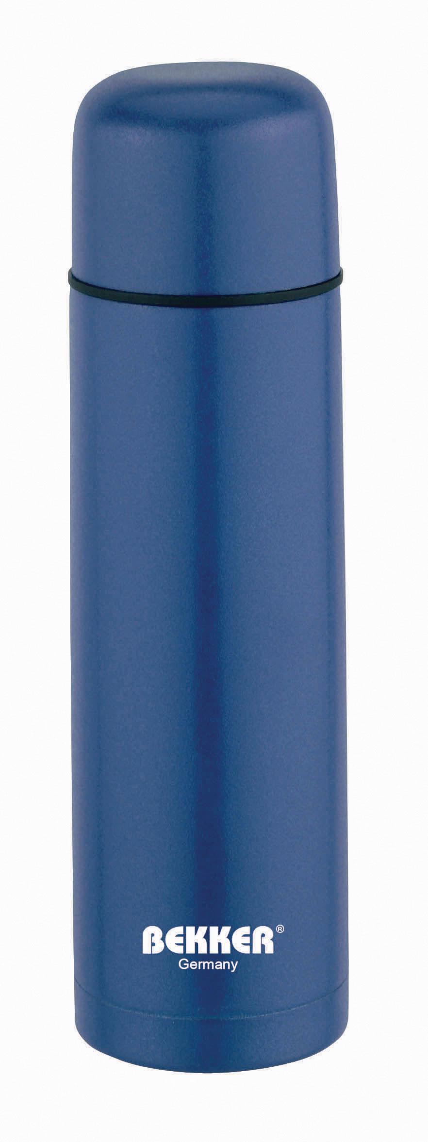 Термос Bekker, 1 л. BK-4038 (30)115510Термос Bekker выполнен из качественной нержавеющей стали, которая не вступает в реакцию с содержимым термоса и не изменяет вкусовых качеств напитка. Двойная стенка из нержавеющей стали сохраняет температуру ваших напитков до 24 часов.Вакуумный закручивающийся клапан предохраняет от проливаний, а удобная кнопка-дозатор избавит от необходимости каждый раз откручивать крышку. Крышку можно использовать как чашку. Данная модель термоса прочная, долговечная и в тоже время легкая. Изделие упаковано в удобный чехол. Стильный металлический термос понравится абсолютно всем и впишется в любой интерьер кухни.Не рекомендуется мыть в посудомоечной машине.Диаметр: 8 см.Высота термоса: 31,5 см.