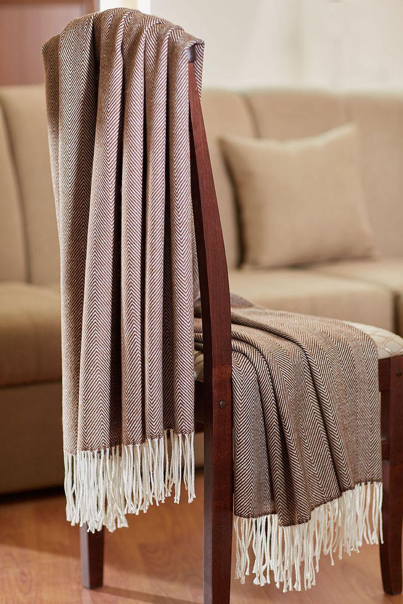 Плед Primavelle Woolen, цвет: коричневый, 130 х 190 смBL-1BПлед Primavelle Woolen с акрилом и виргинской шерстью - истинное сокровище. Плед согреет вас холодными зимними вечерами. Порадуйте себя и своих близких прикосновениями к шедевру. Классический дизайн пледа прекрасно впишется в любой интерьер. Удобный каминный плед.