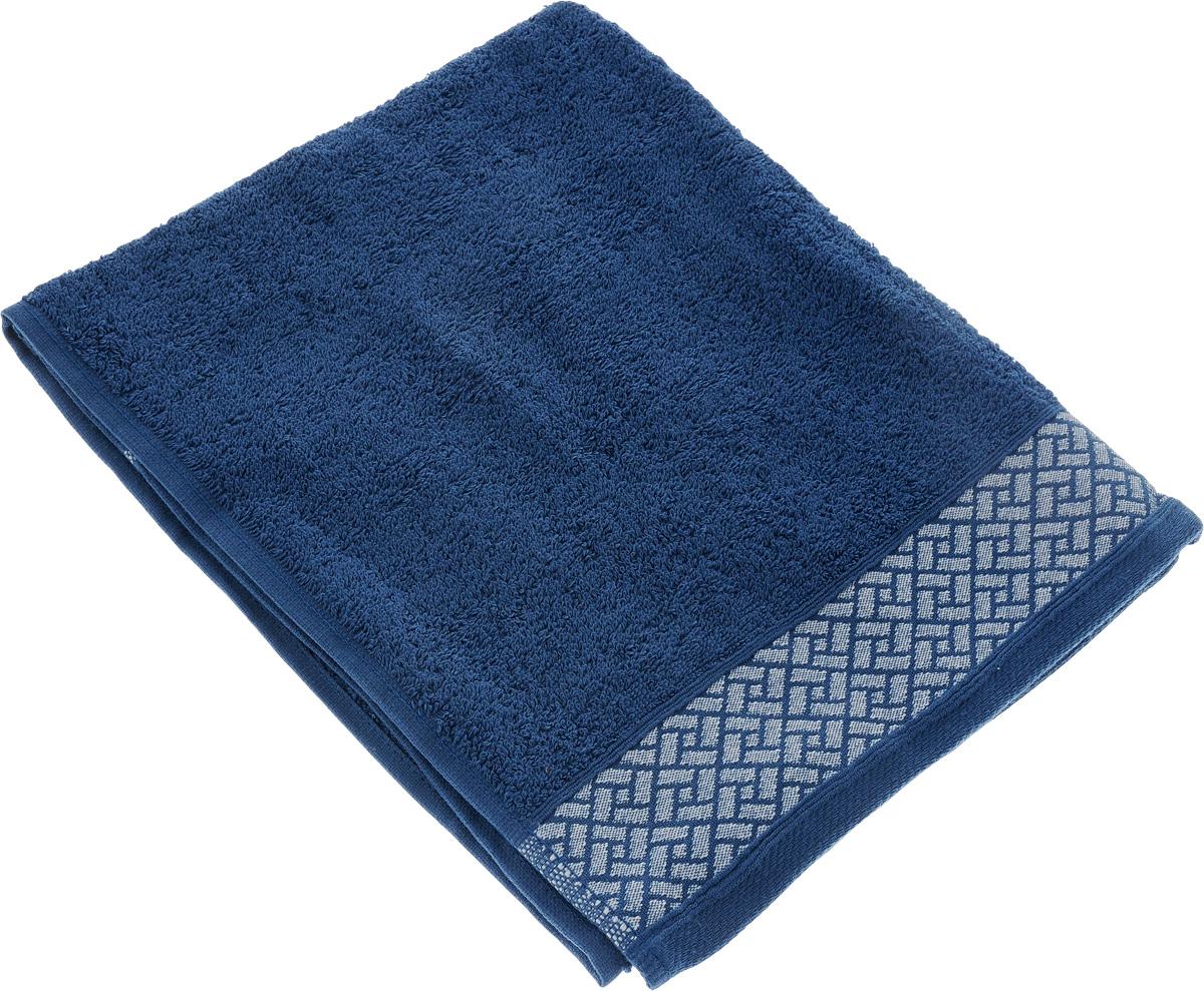 Полотенце Tete-a-Tete Лабиринт, цвет: синий, 50 х 90 см. УП-00912723Полотенце Tete-a-Tete Лабиринт выполнено из 100% хлопка. Изделие отлично впитывает влагу, быстро сохнет, сохраняет яркость цвета и не теряет форму даже после многократных стирок. Такое полотенце очень практично и неприхотливо в уходе. Оно создаст прекрасное настроение и украсит интерьер в ванной комнате.